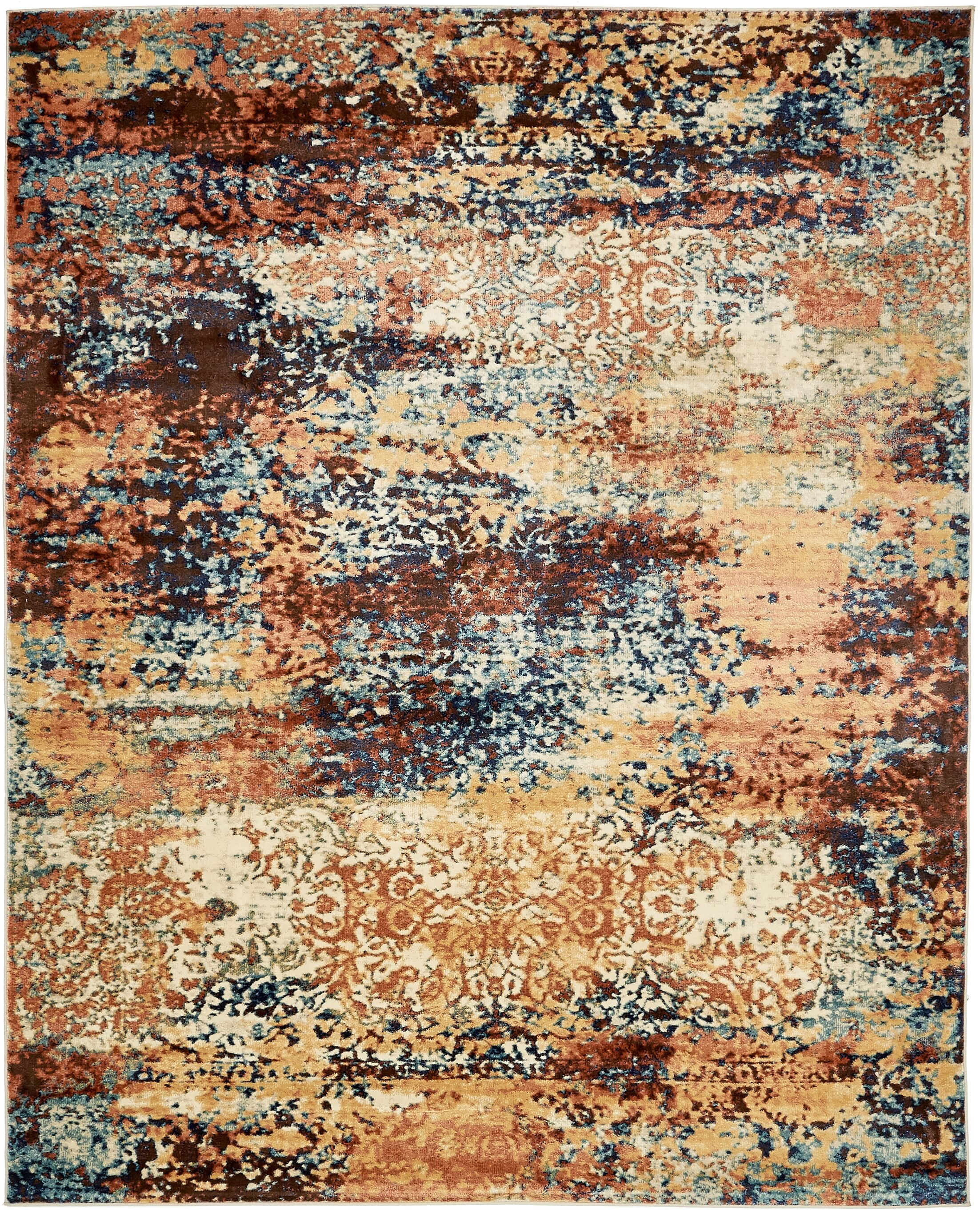 Jani Beige/Brown Abstract Area Rug Rug Size: Rectangle 8' x 10'