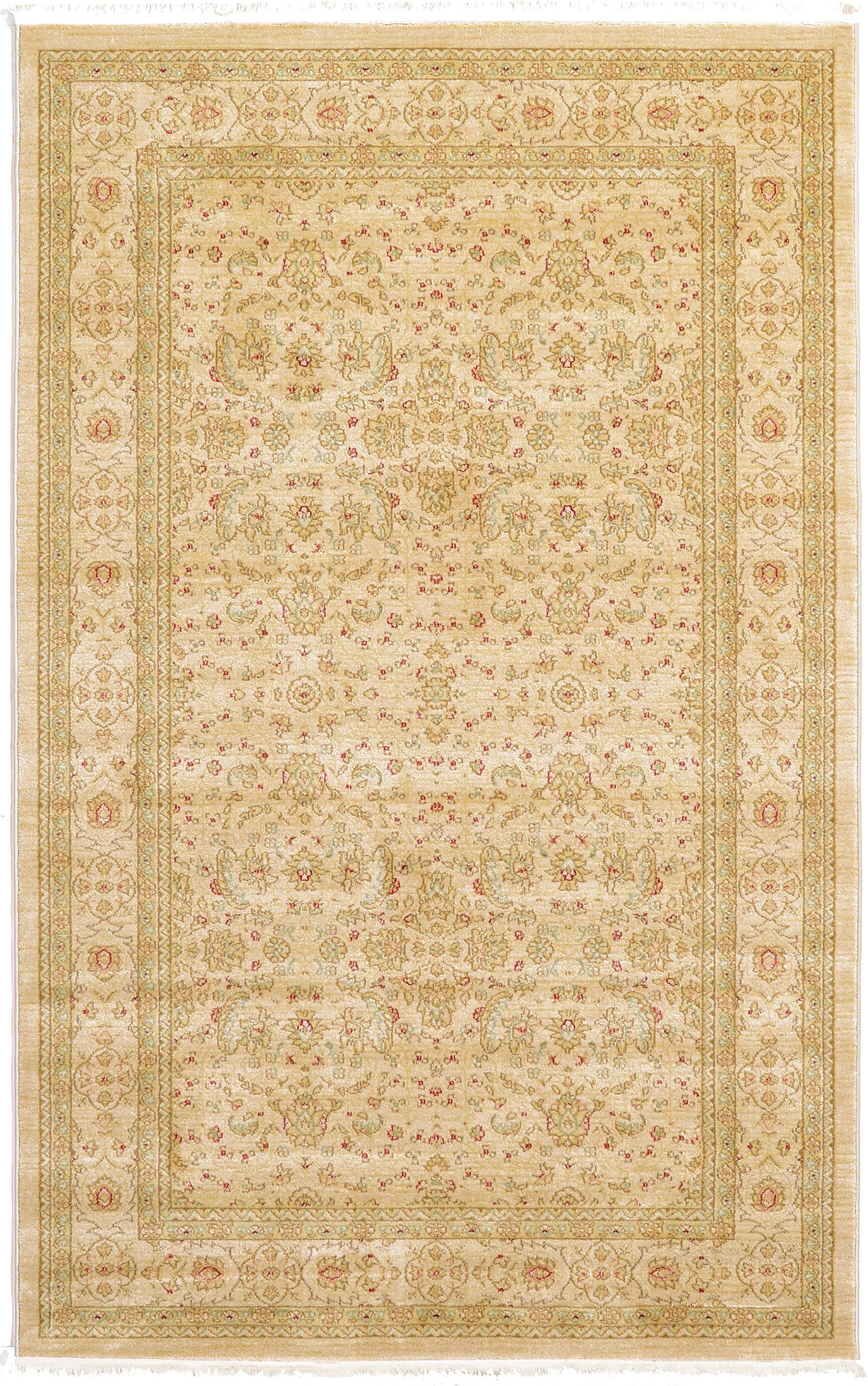 Willow Beige Area Rug Rug Size: 3'3