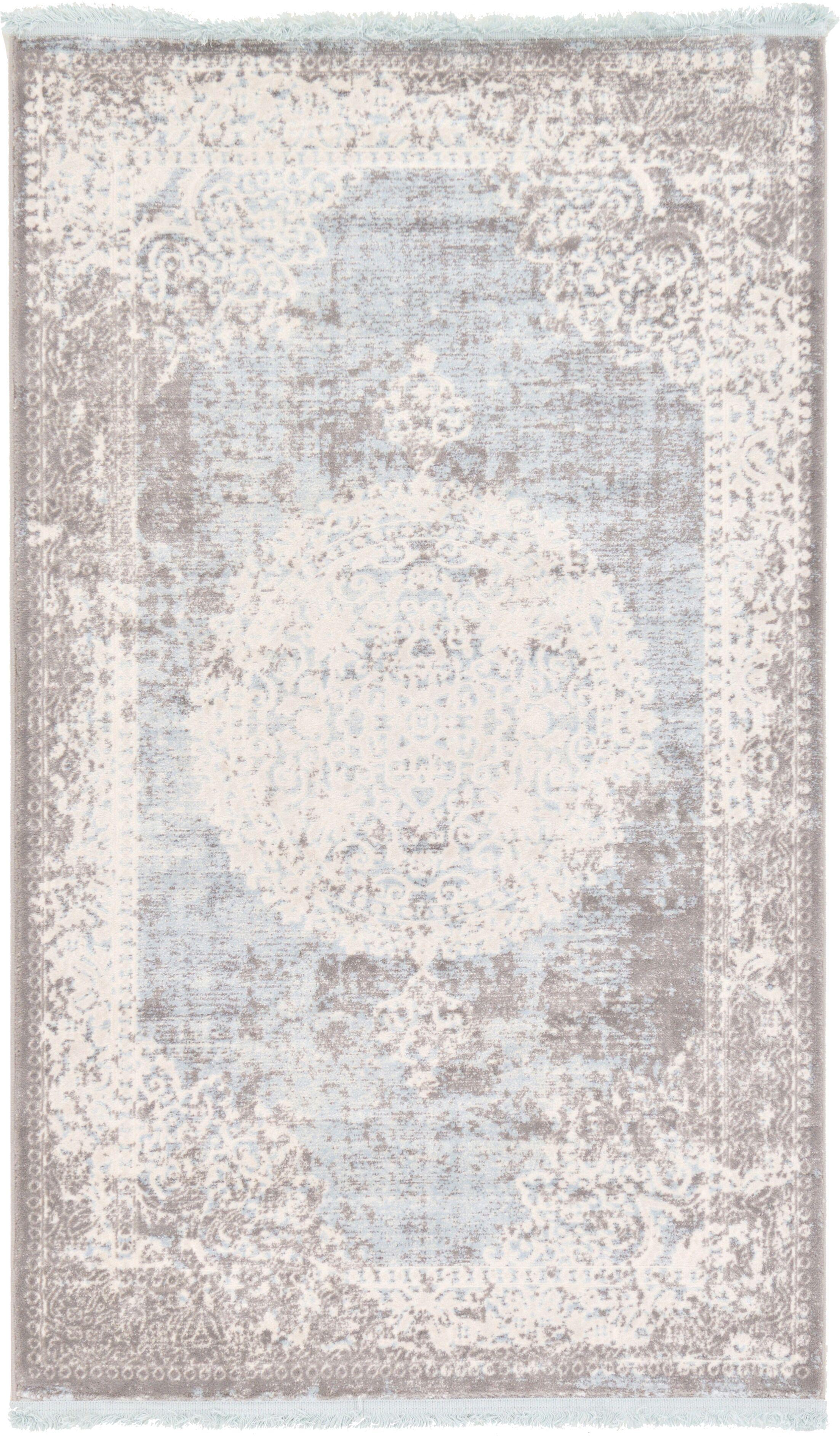 Twila Gray Area Rug Rug Size: Rectangle 3'3 x 5'3