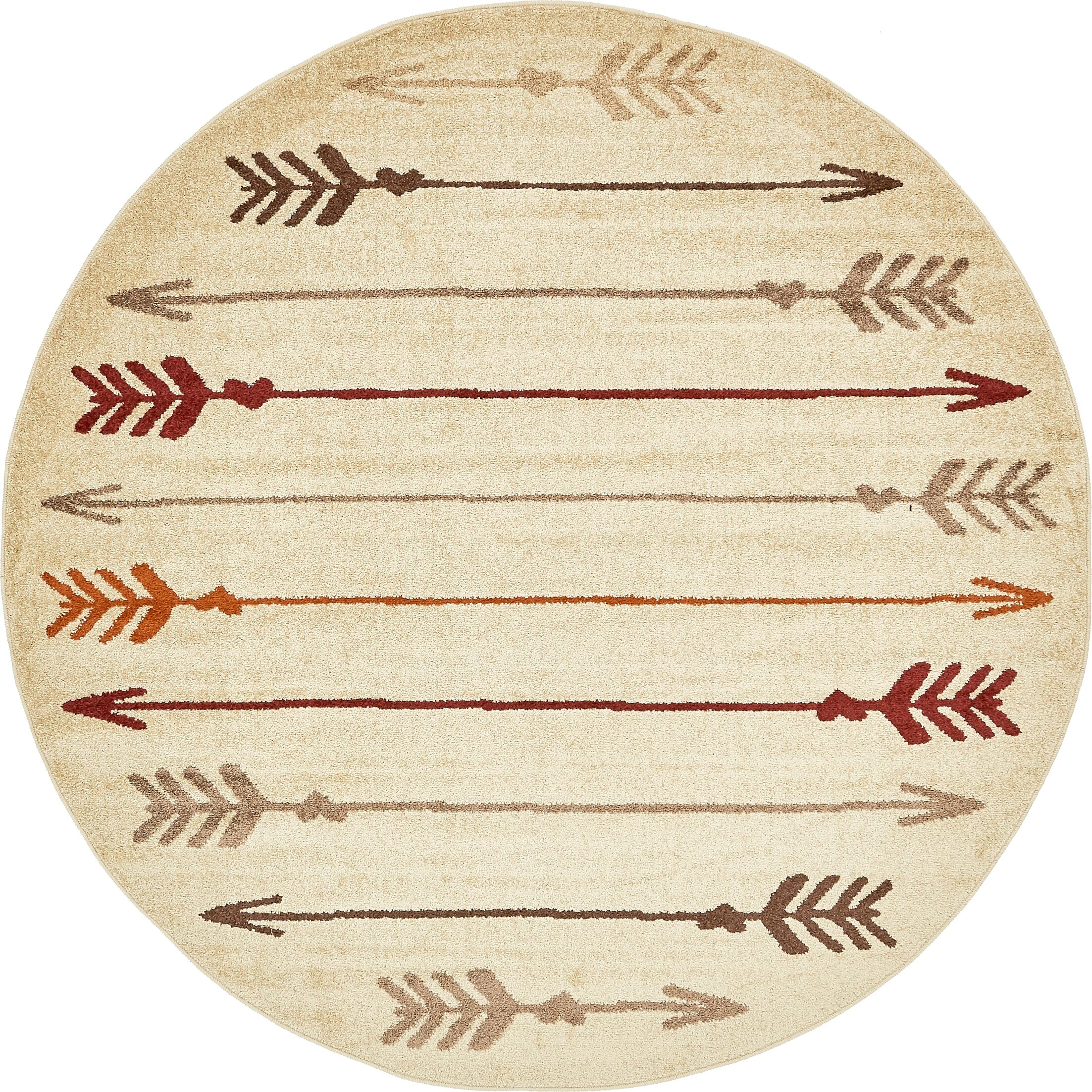 Picabo Beige Area Rug Rug Size: Round 8' x 8'