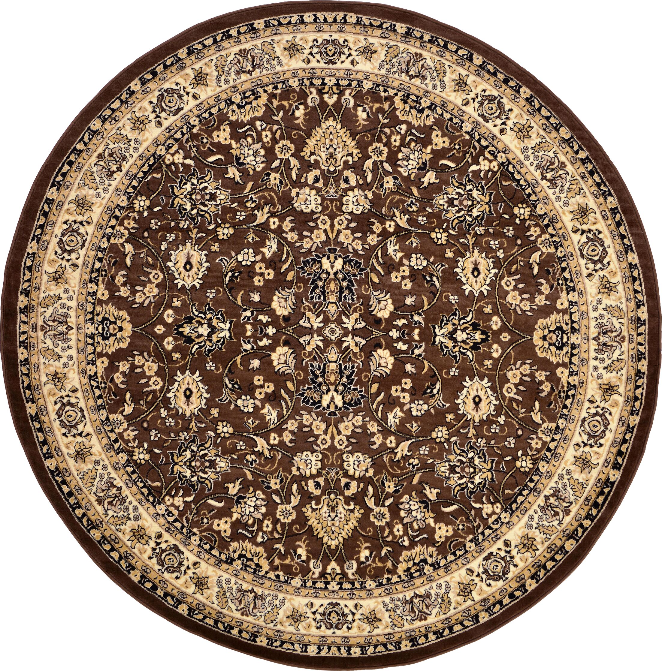 Concord Brown Area Rug Rug Size: Round 8'