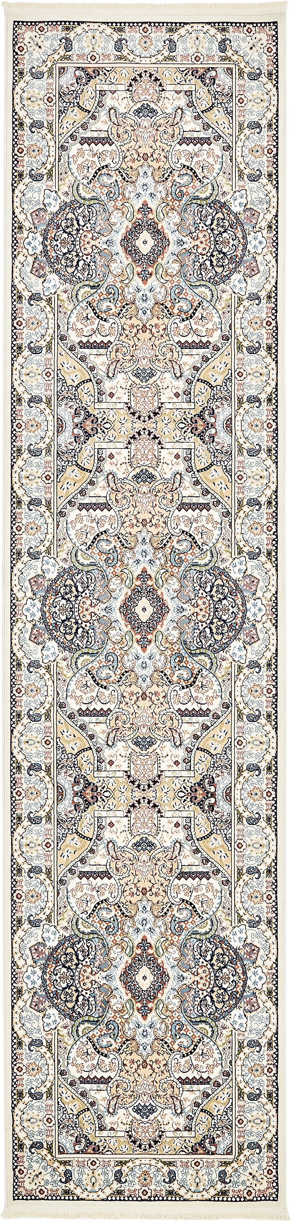 Quince Ivory/Tan Area Rug Rug Size: Runner 3' x 13'