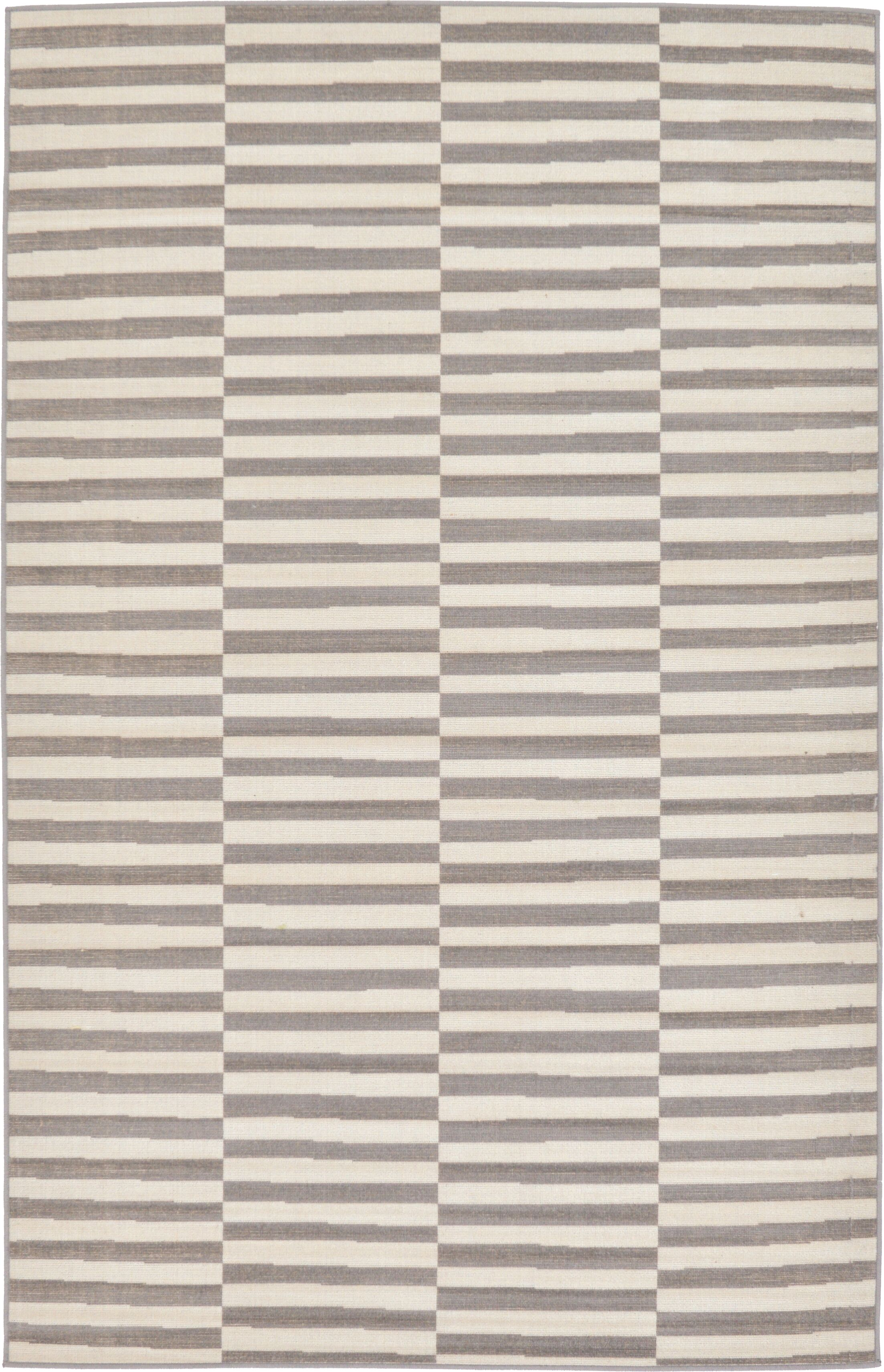 Jace Warm Gray/Ivory Area Rug Rug Size: Rectangle 5' x 8'