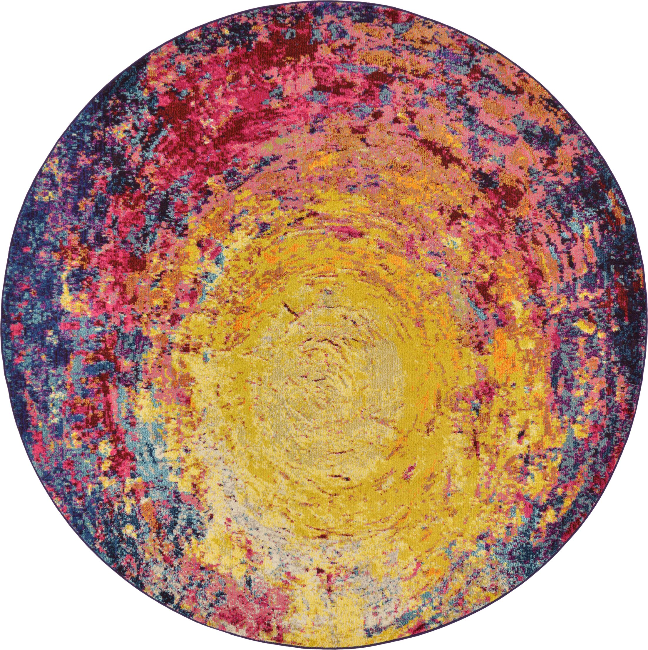 Ned Area Rug Rug Size: Round 8'