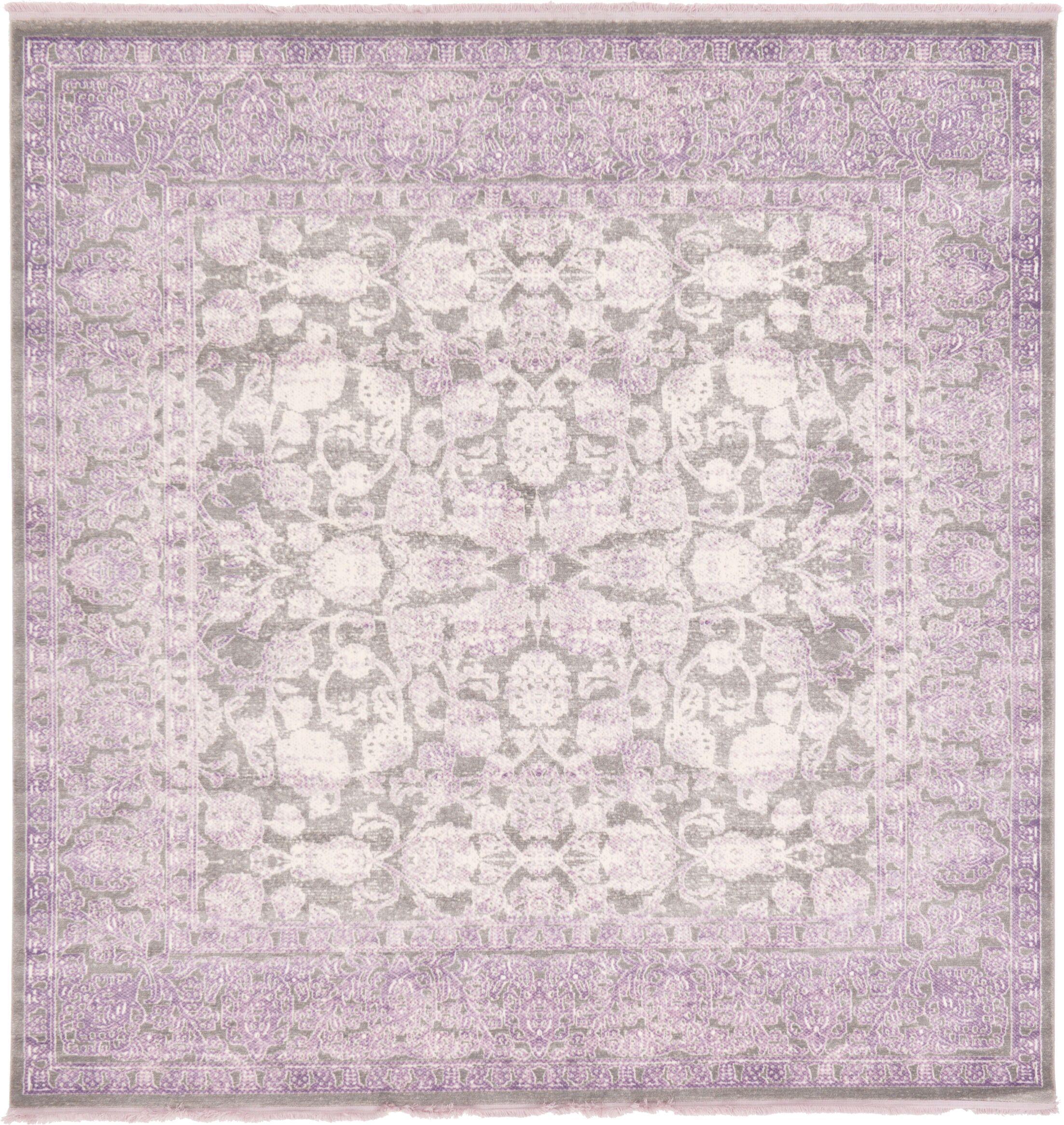 Sherrill Light Gray Oriental Area Rug Rug Size: Square 8'