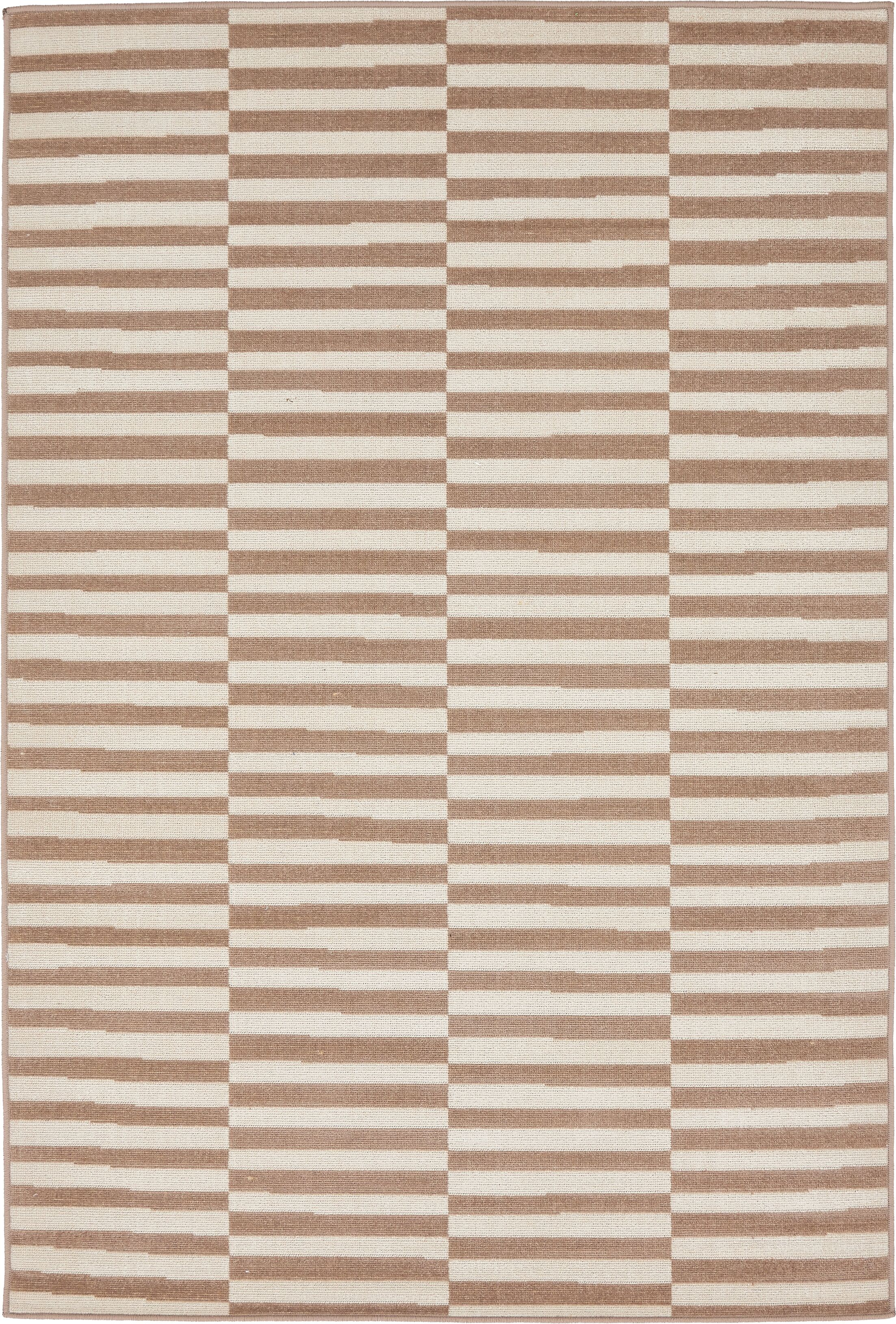 Braxton Light Brown Area Rug Rug Size: Rectangle 4' x 6'
