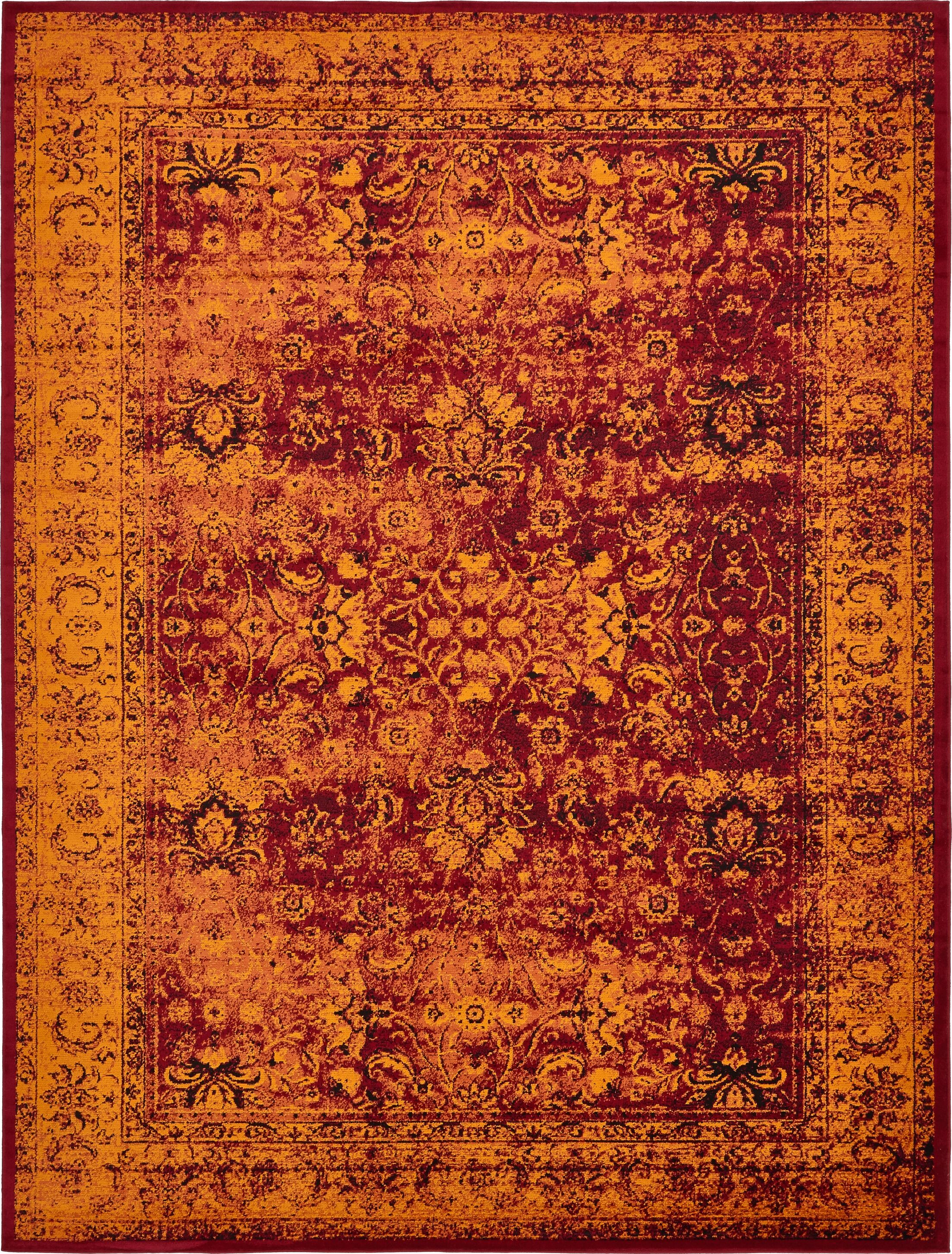 Neuilly Red/Orange Area Rug Rug Size: Rectangle 10' x 13'
