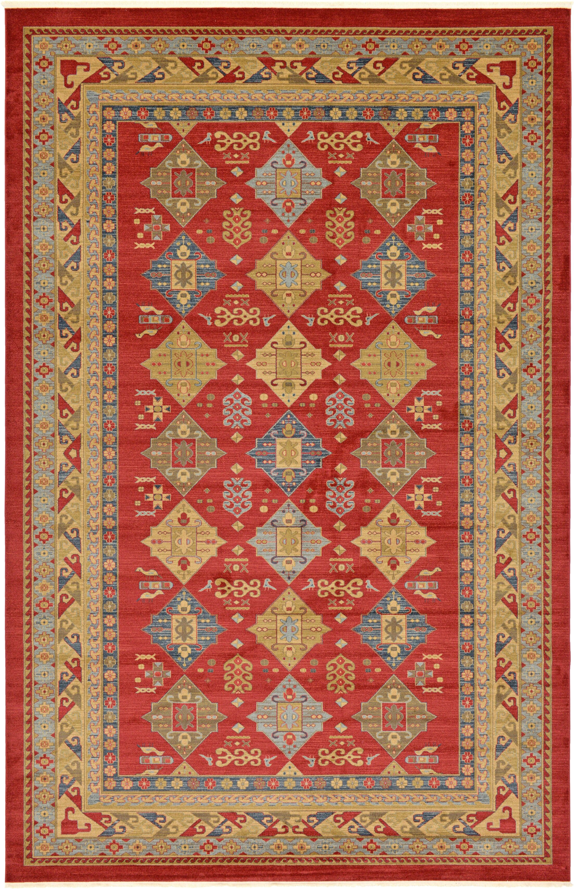 Jana Red Tibetan Area Rug Rug Size: Rectangle 10'6