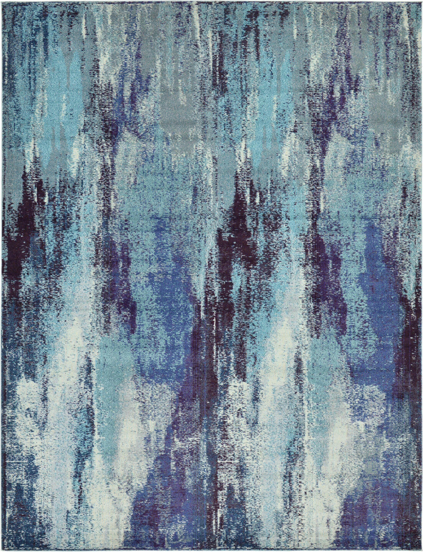 Fujii Blue Area Rug Rug Size: Rectangle 9' x 12'