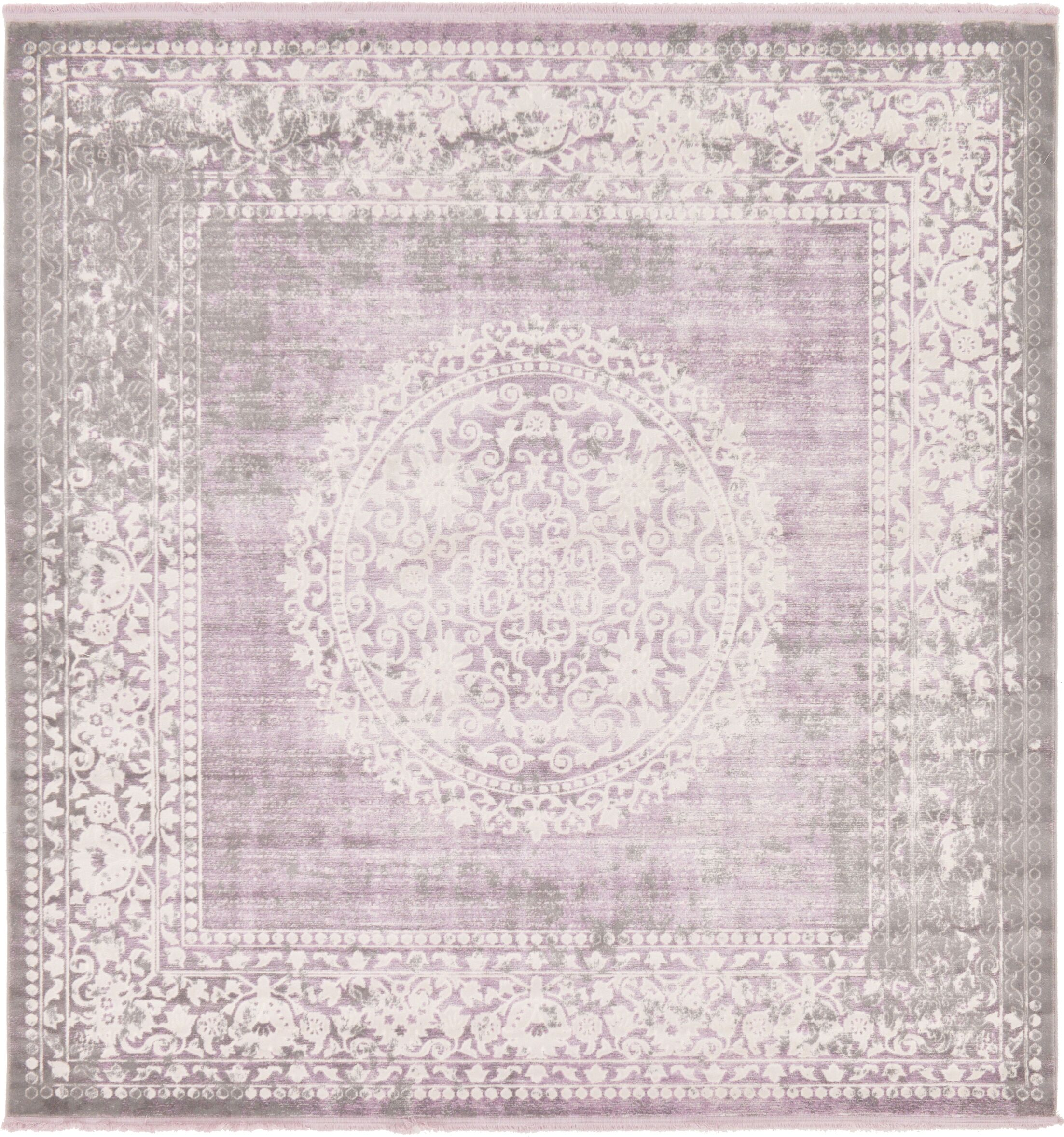 Bryant Green/Ivory Area Rug Rug Size: Square 8'