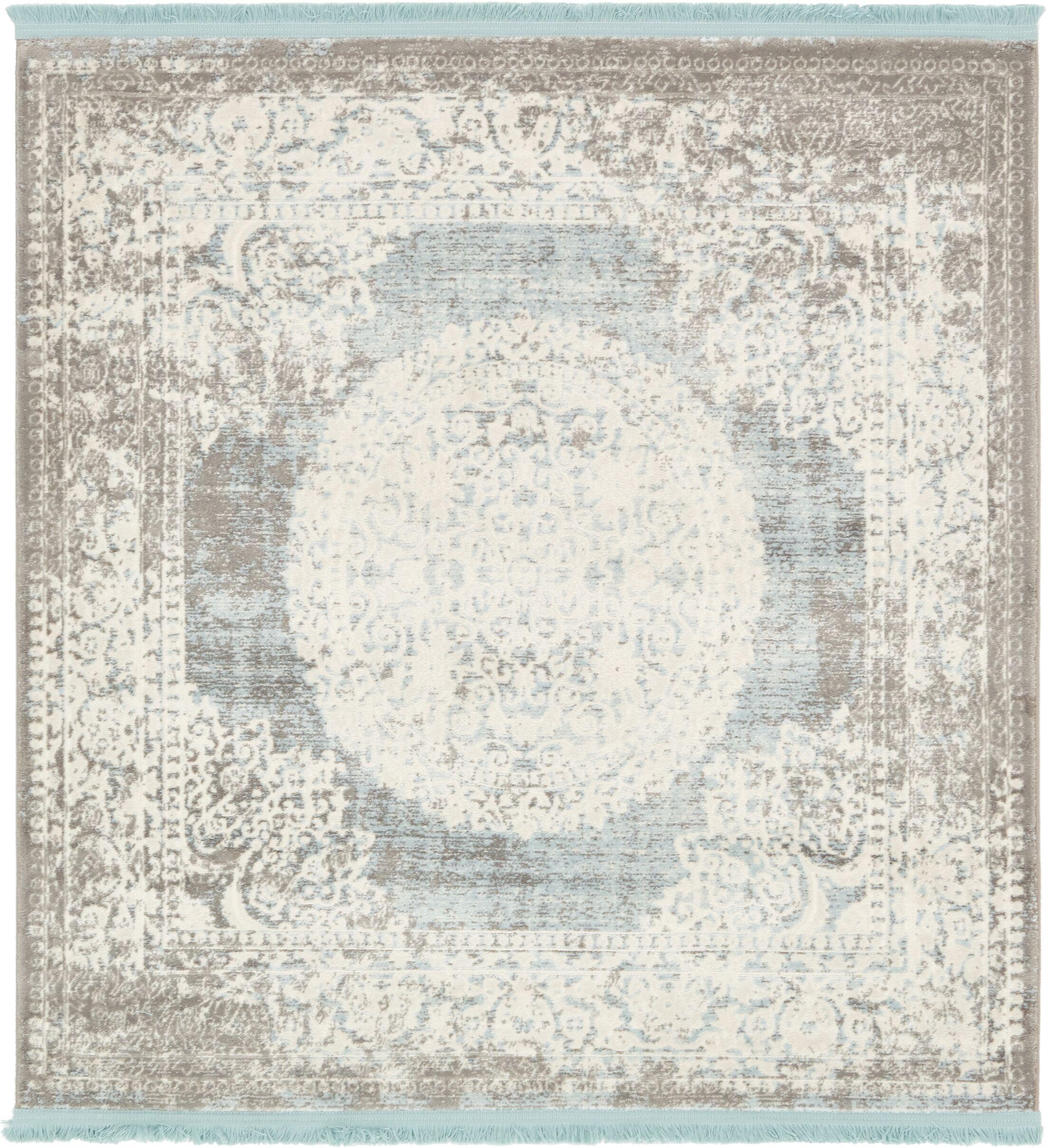 Twila Gray Area Rug Rug Size: Square 4'