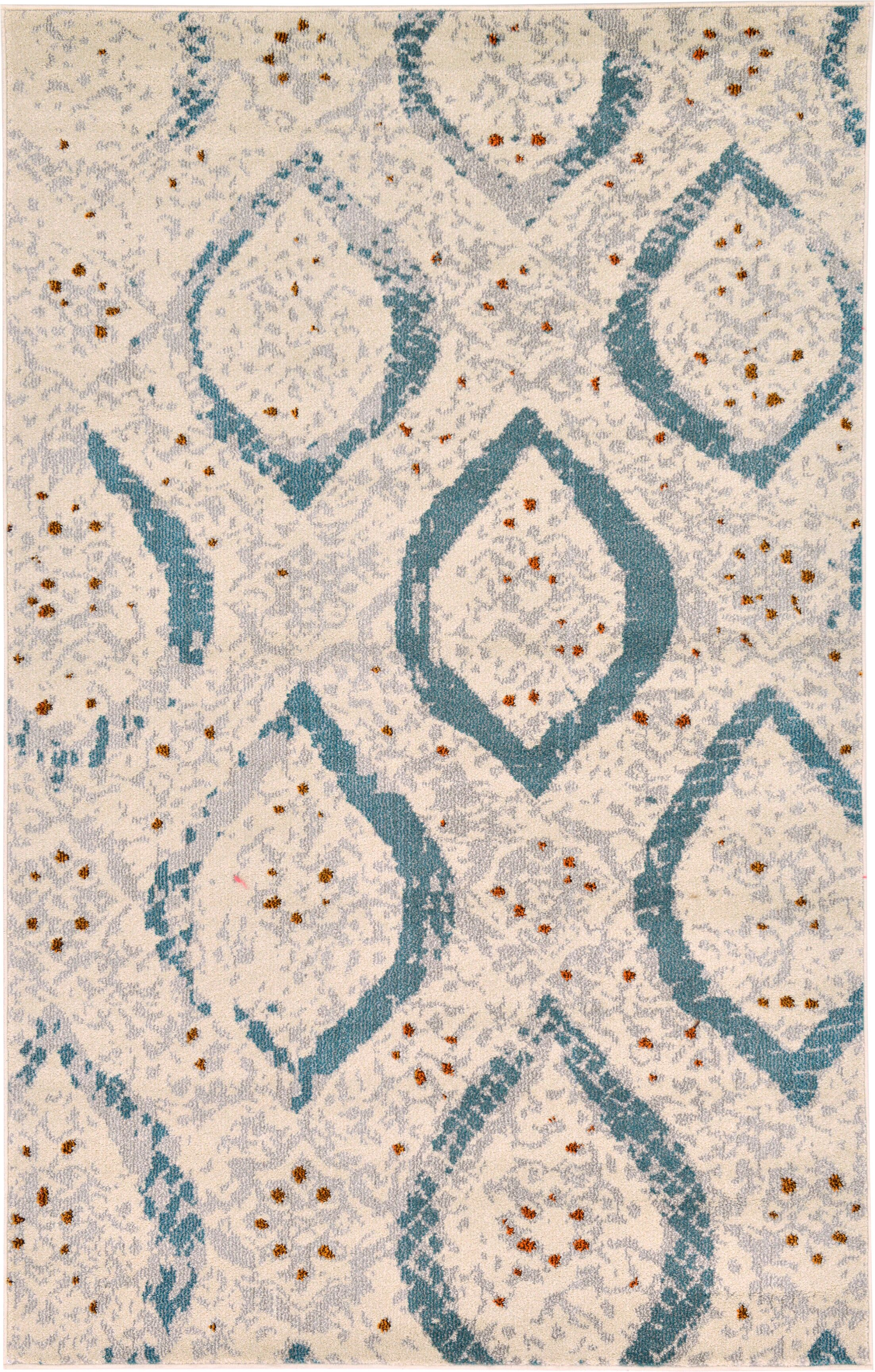 Charleena Cream Area Rug Rug Size: Rectangle 5' x 8'