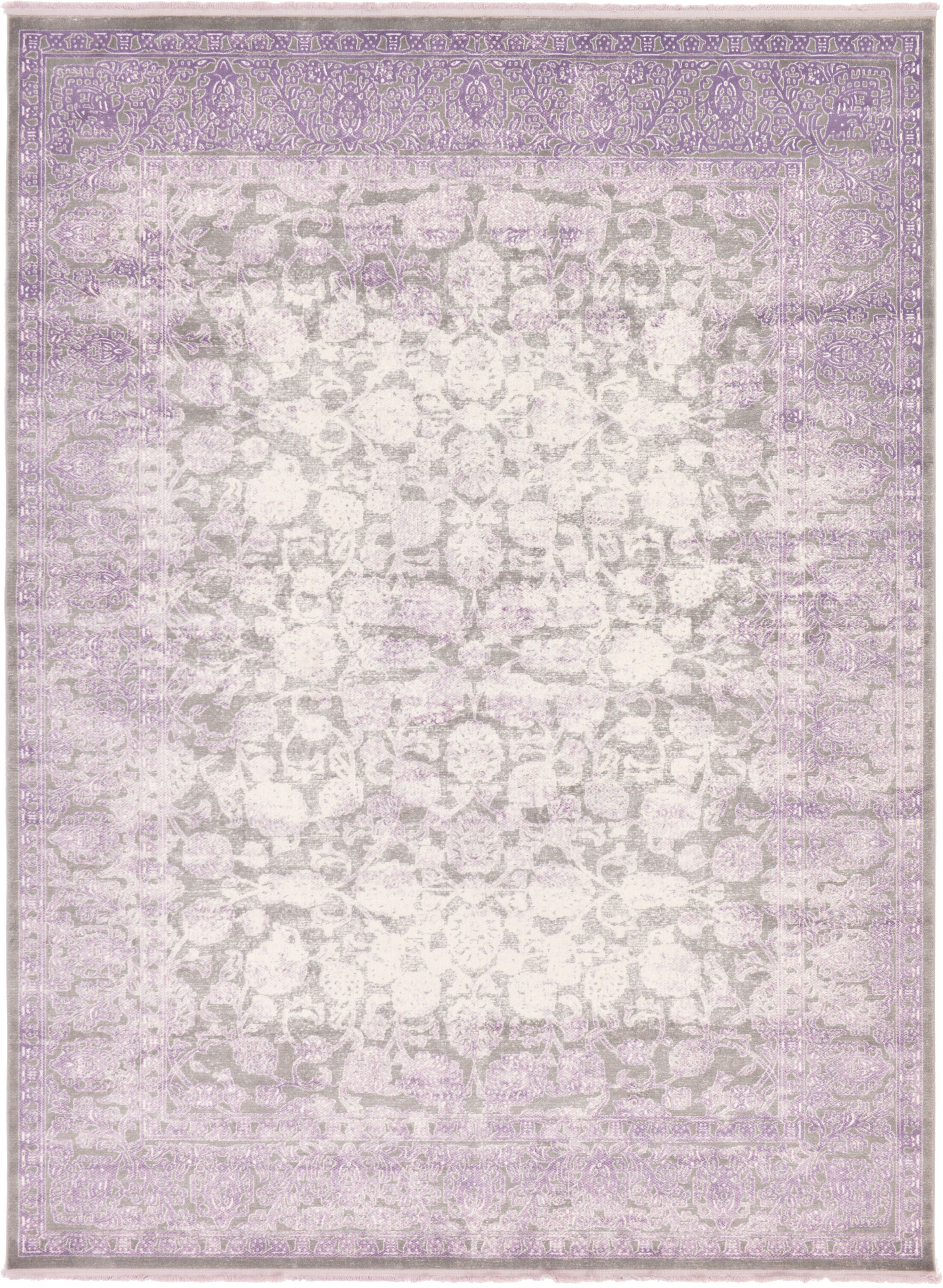 Sherrill Light Gray Oriental Area Rug Rug Size: Rectangle 9' x 12'