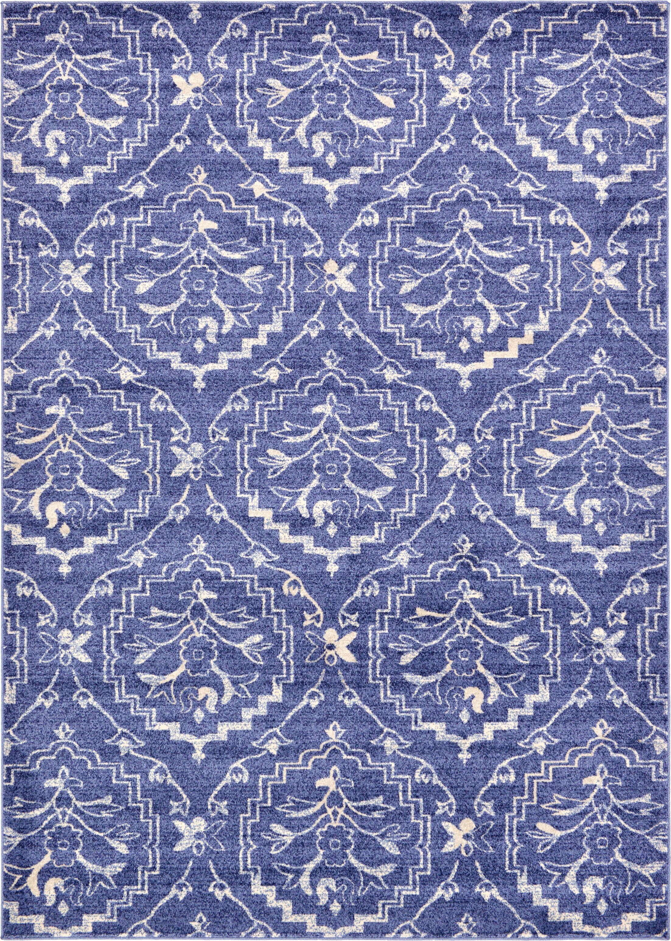 Ezequiel Blue Area Rug Rug Size: Rectangle 7' x 10'