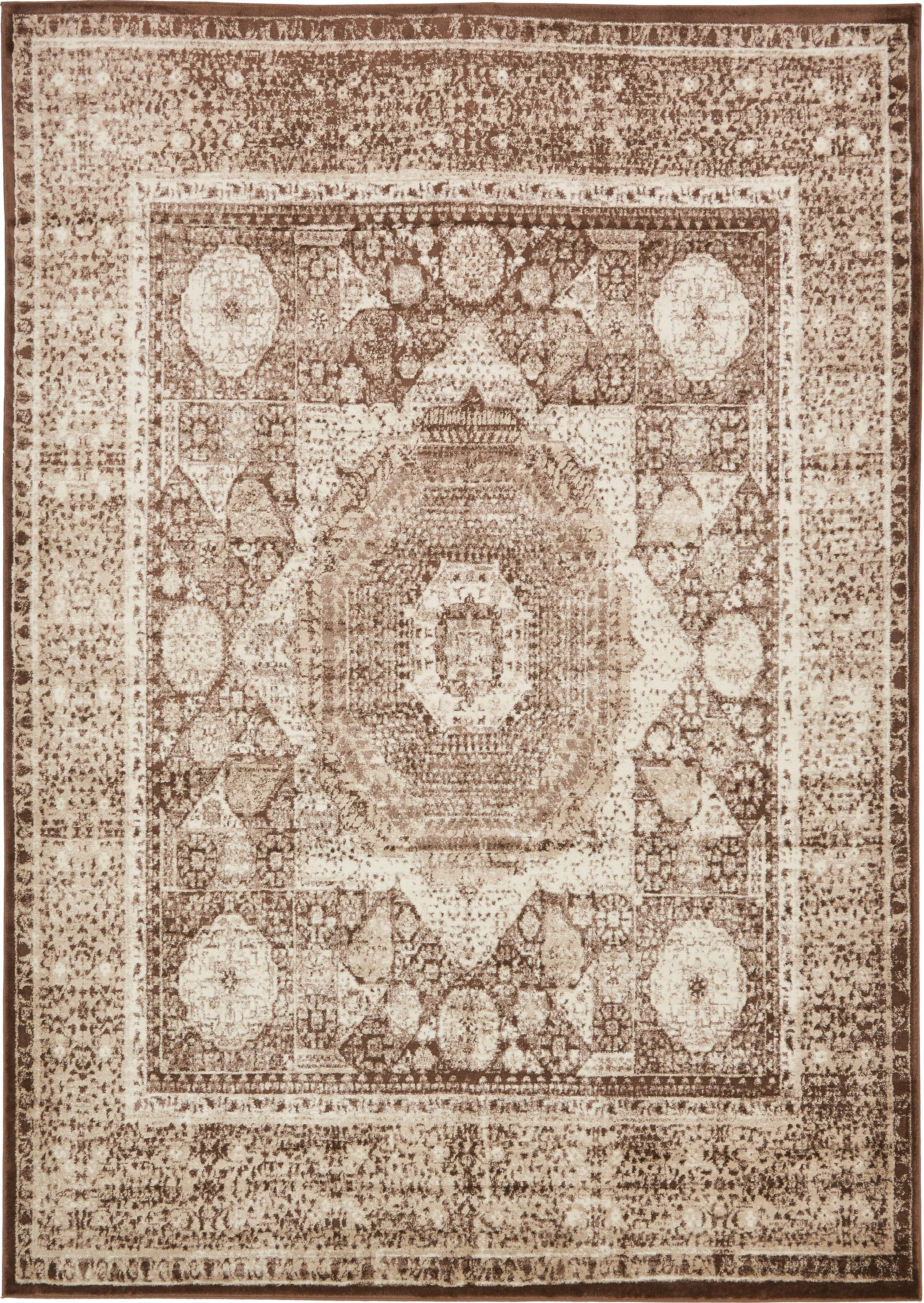 Bolton Brown/Beige Area Rug Rug Size: Rectangle 8' x 11'6