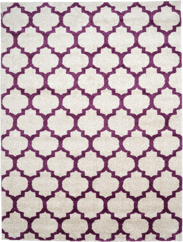 Ametrine Beige/Purple Area Rug Rug Size: Rectangle 5' x 8'