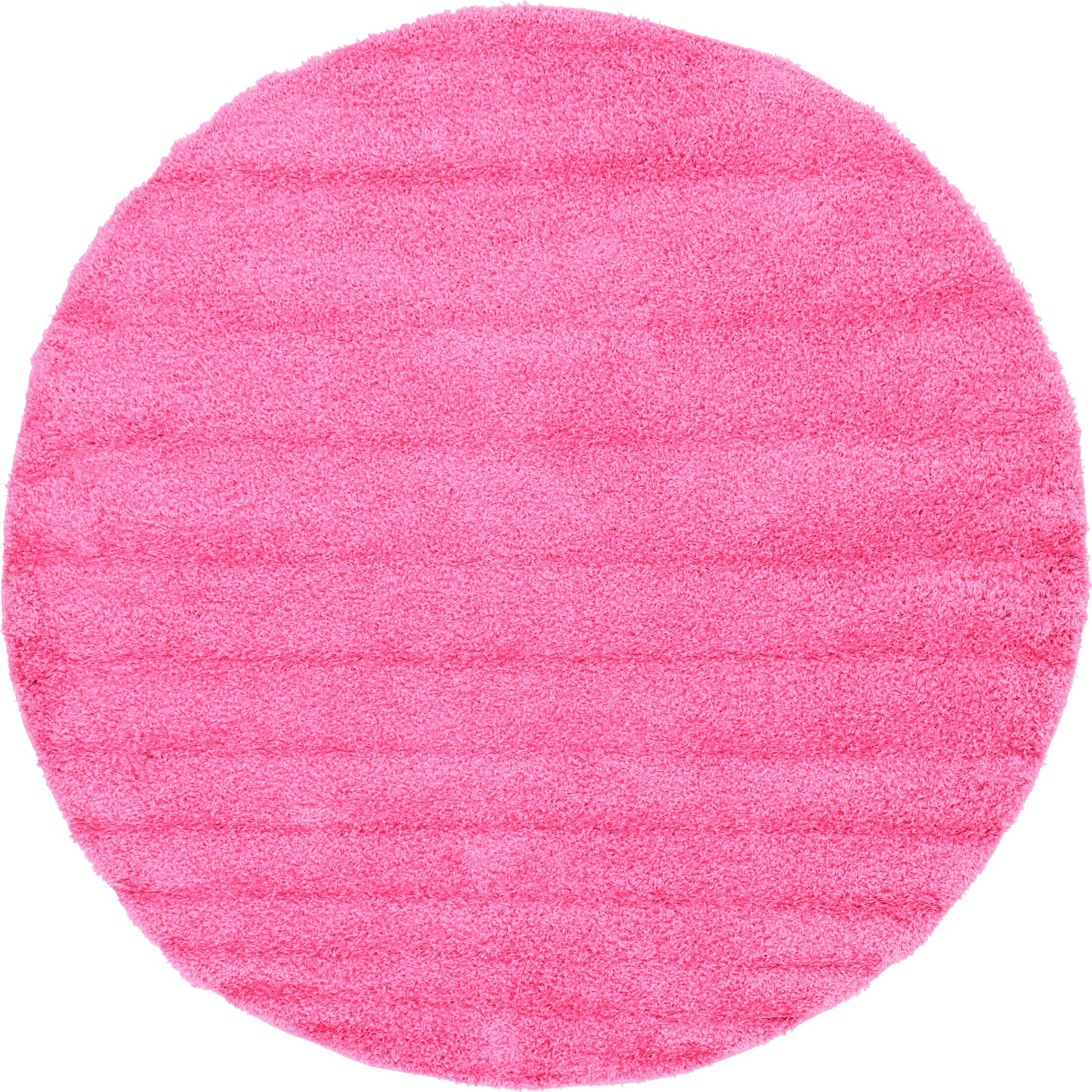 Madison Pink Area Rug Rug Size: Round 8'2