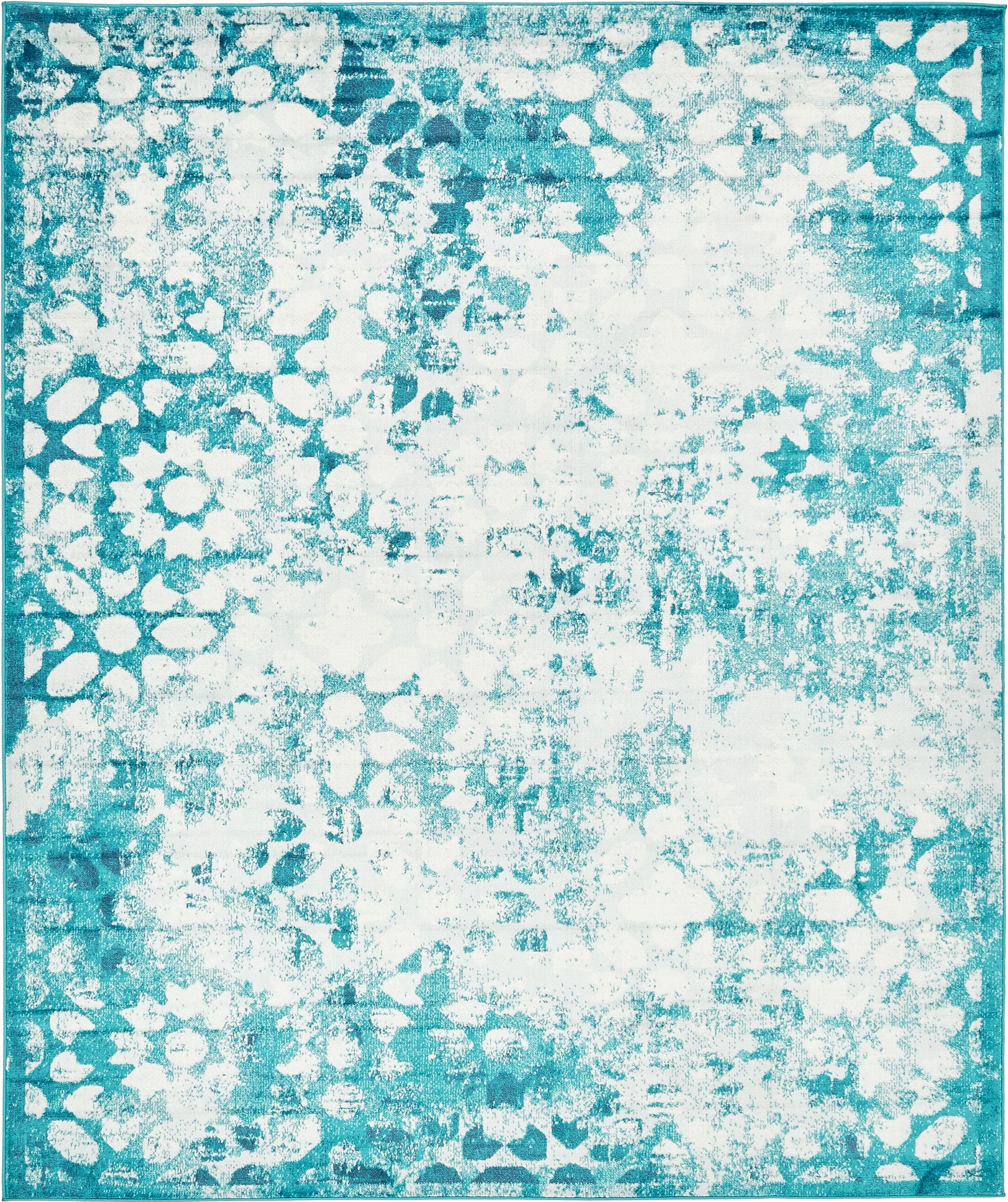 Brandt Turquoise Area Rug Rug Size: Rectangle 8' x 10'
