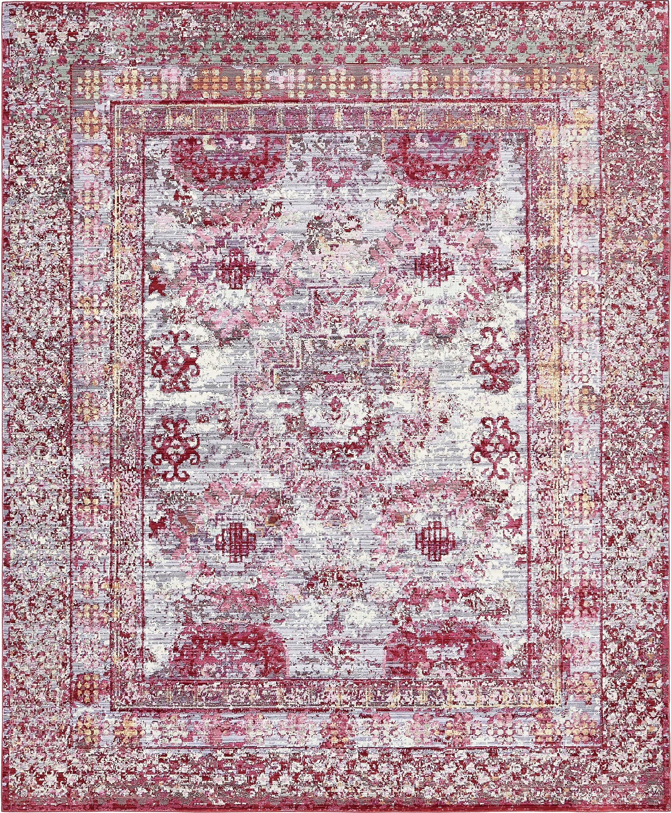 Center Red/Pink Area Rug Rug Size: Rectangle 8' x 10'