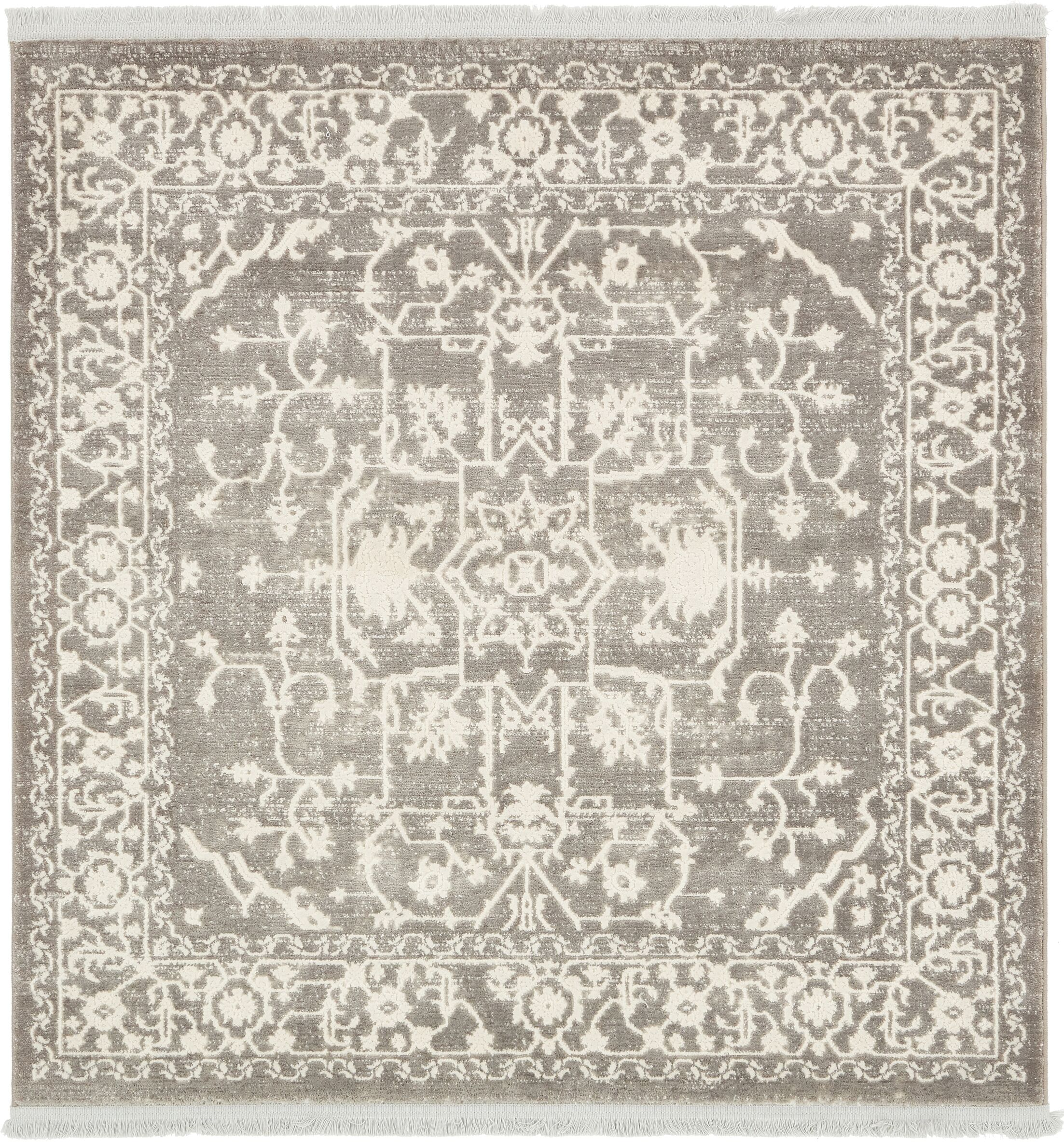 Bryant Light Gray Area Rug Rug Size: Square 4'