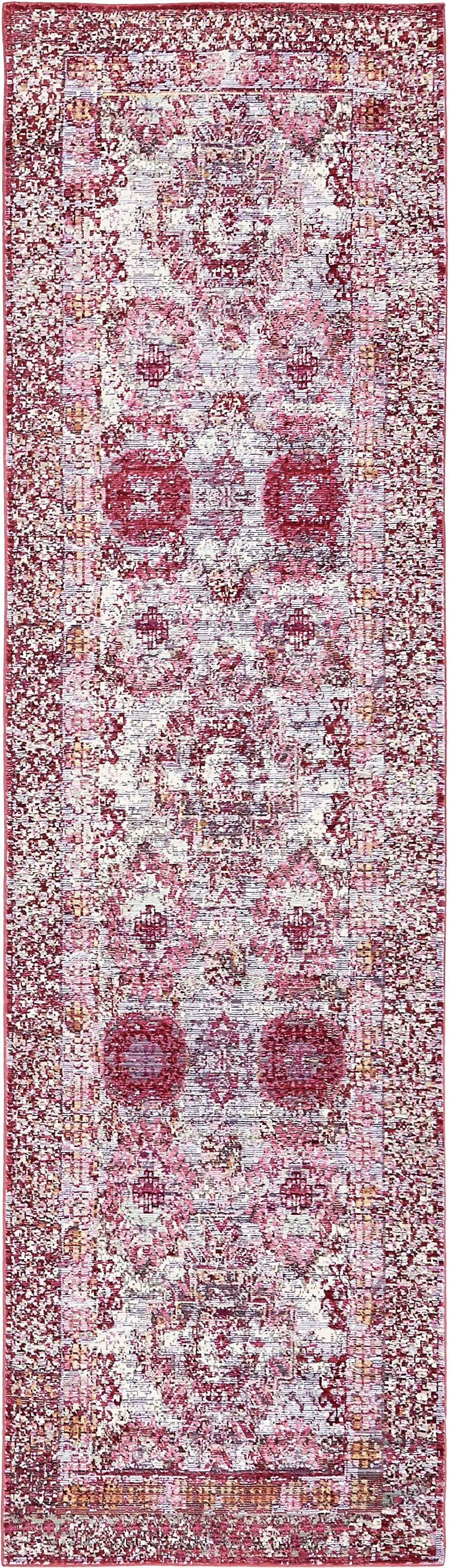 Center Red/Pink Area Rug Rug Size: Runner 2'7