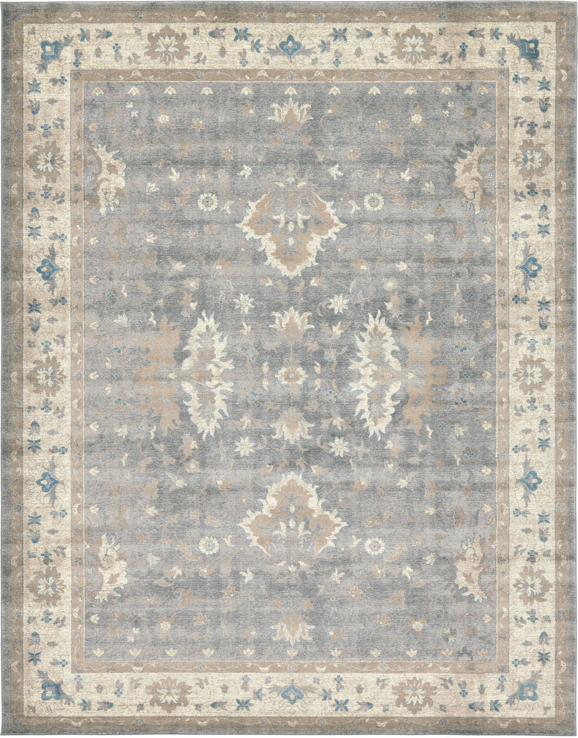 Jaiden Gray Area Rug Rug Size: Rectangle 10' x 13'