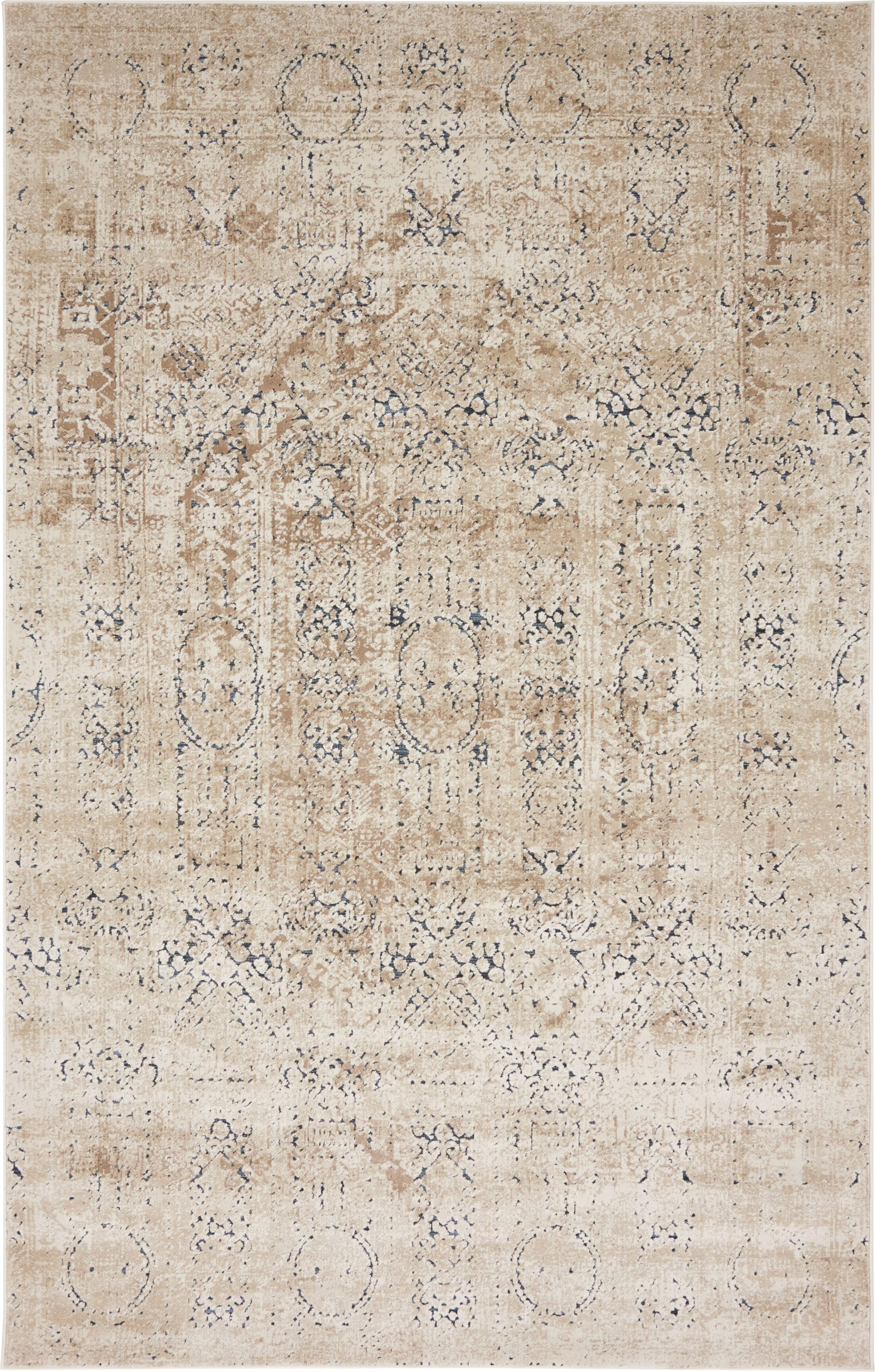Abbeville Beige Area Rug Rug Size: Rectangle 5' x 8'