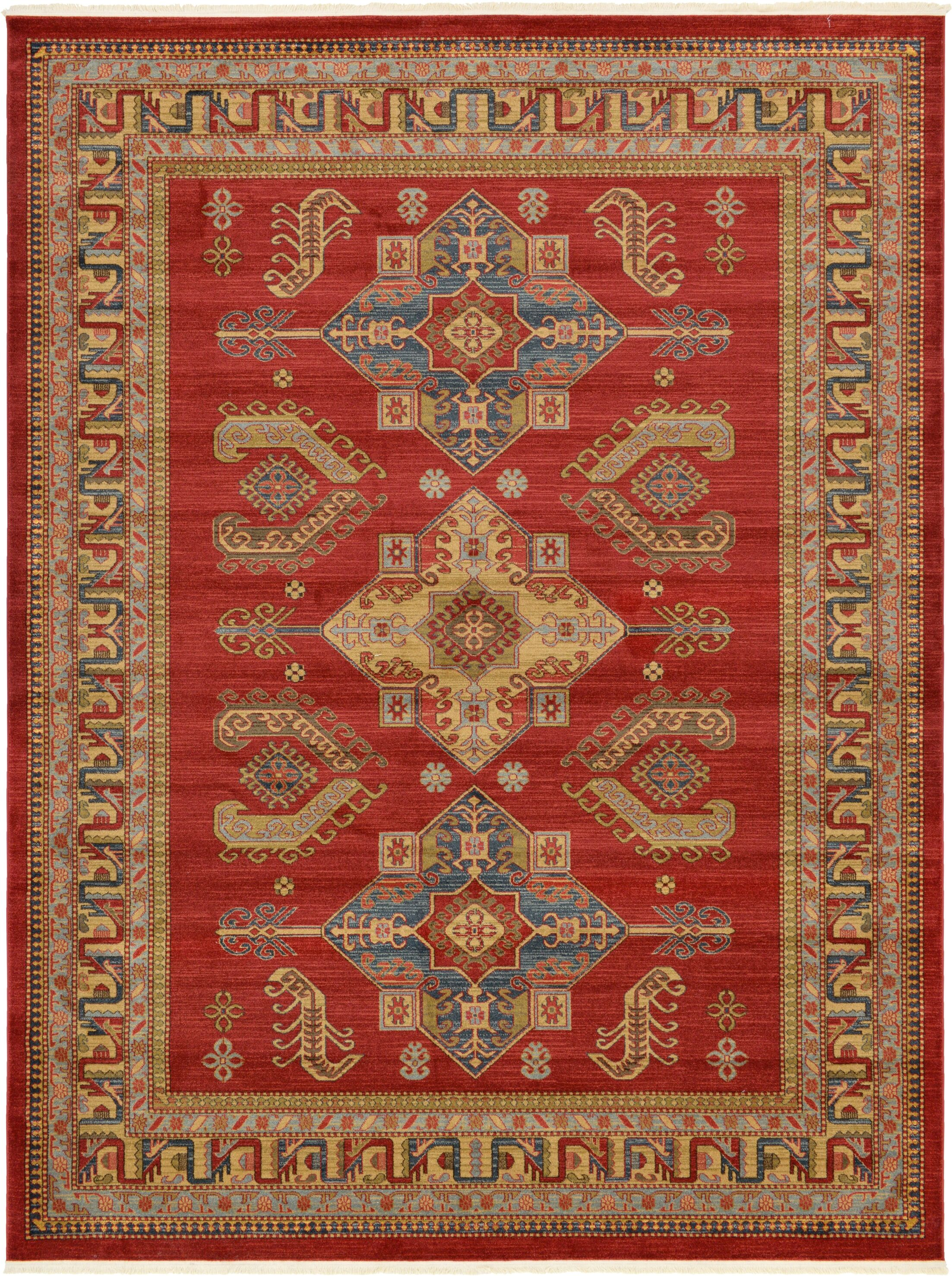 Valley Red Area Rug Rug Size: Rectangle 9' x 12'