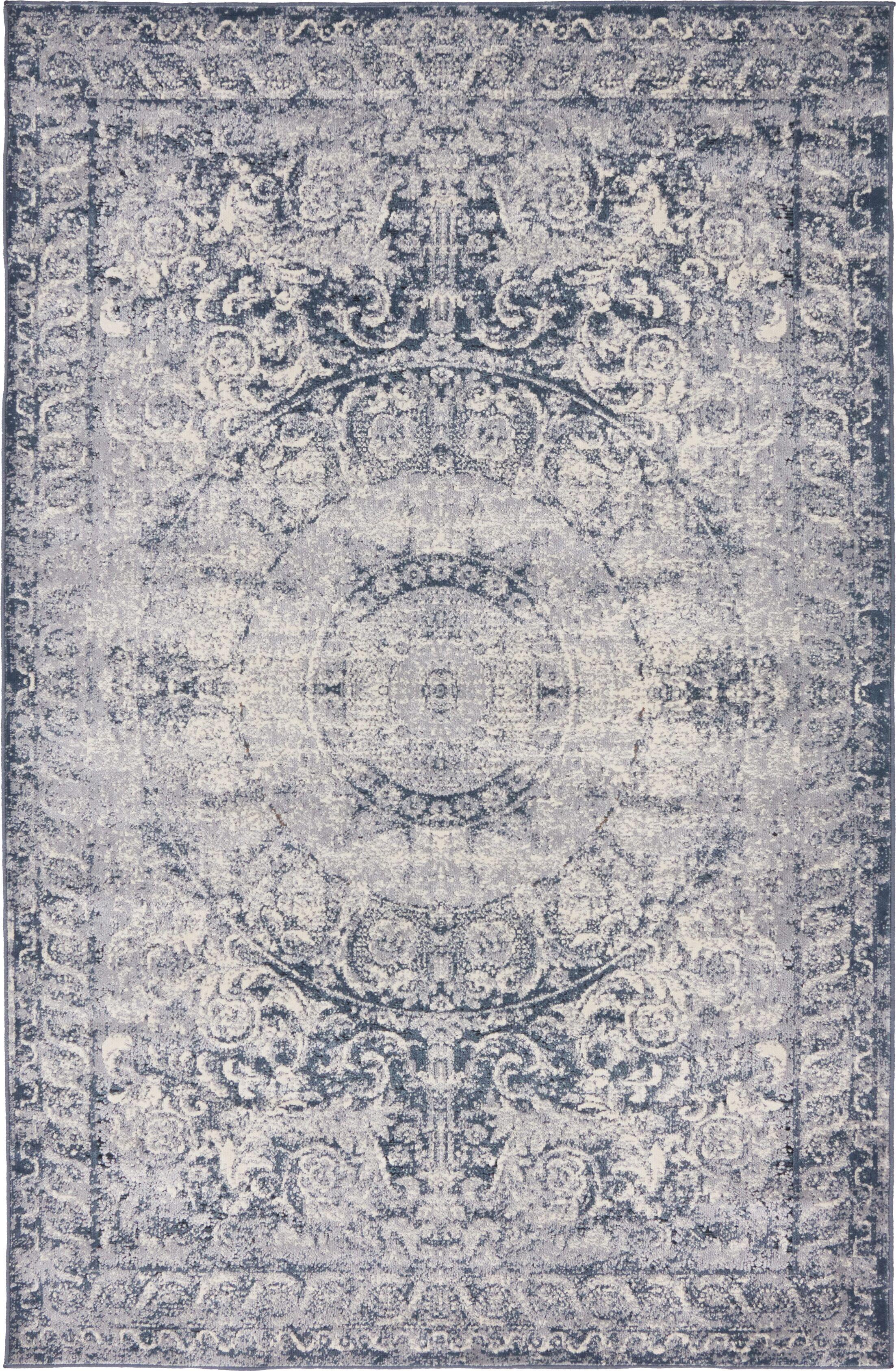 Abbeville Stone Blue Area Rug Rug Size: Rectangle 4' x 6'