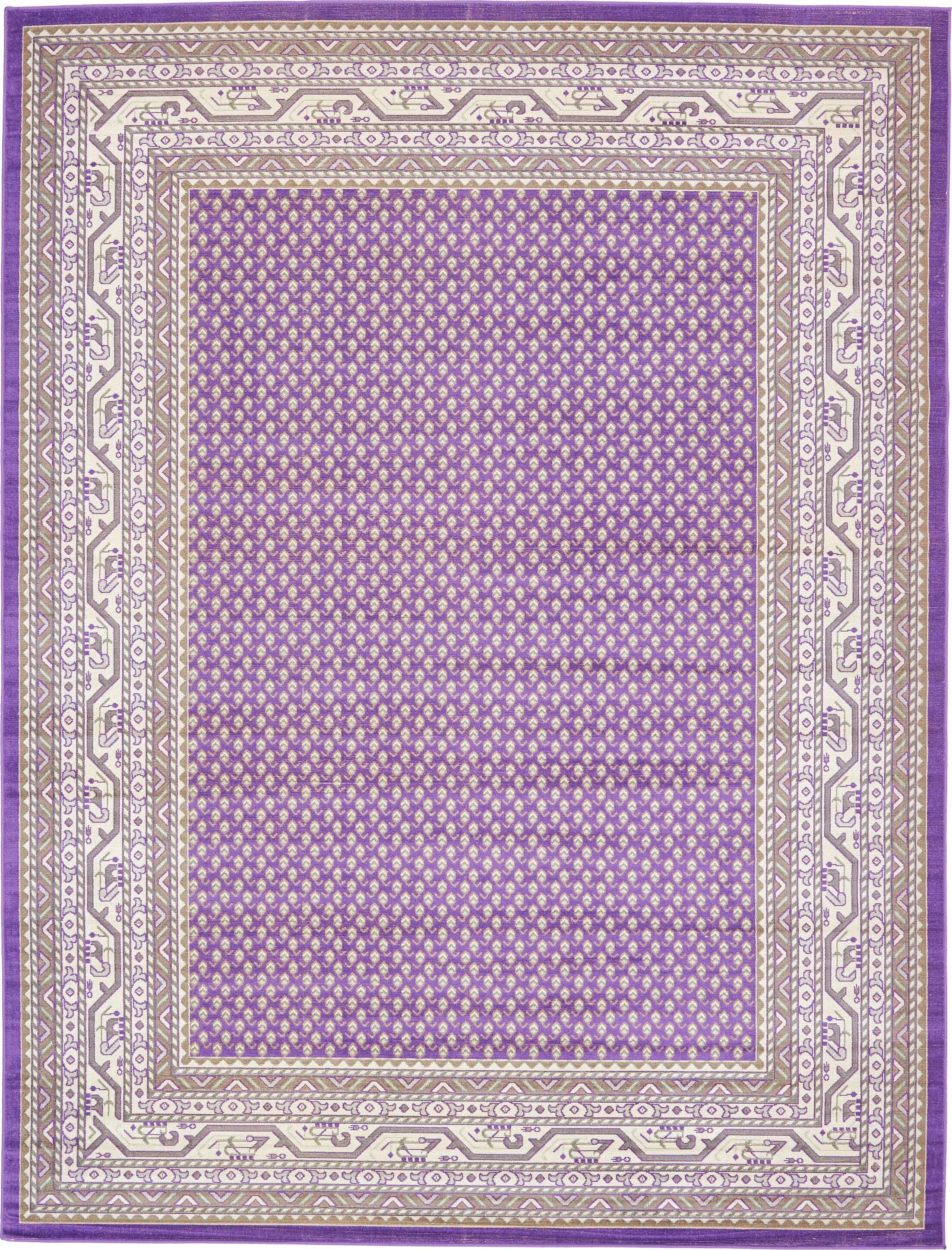 Gillam Violet Area Rug Rug Size: Rectangle 9' x 12'