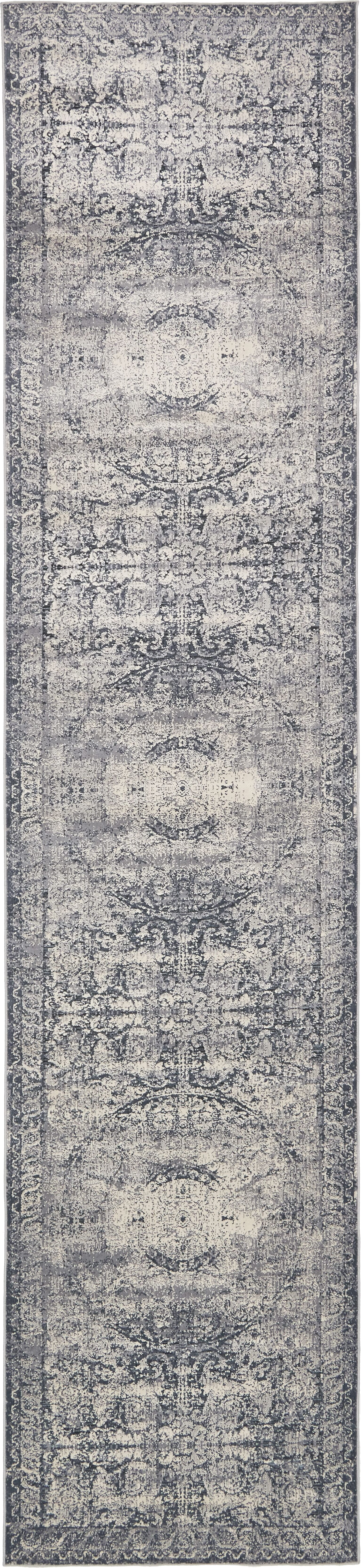 Abbeville Stone Blue Area Rug Rug Size: Runner 3' x 13'