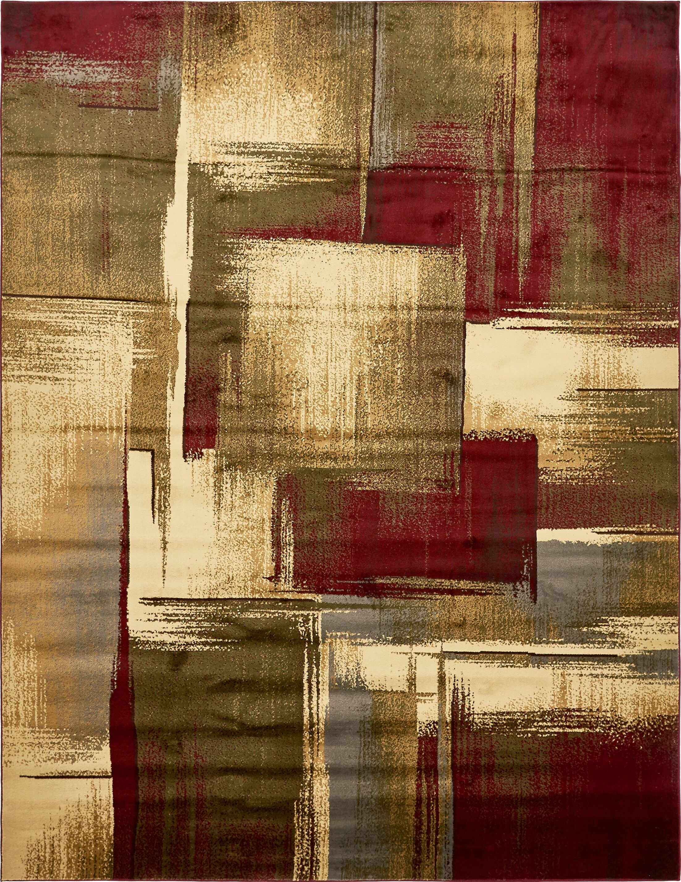 Jaidan Brown/Beige Area Rug Rug Size: Rectangle 9' x 12'