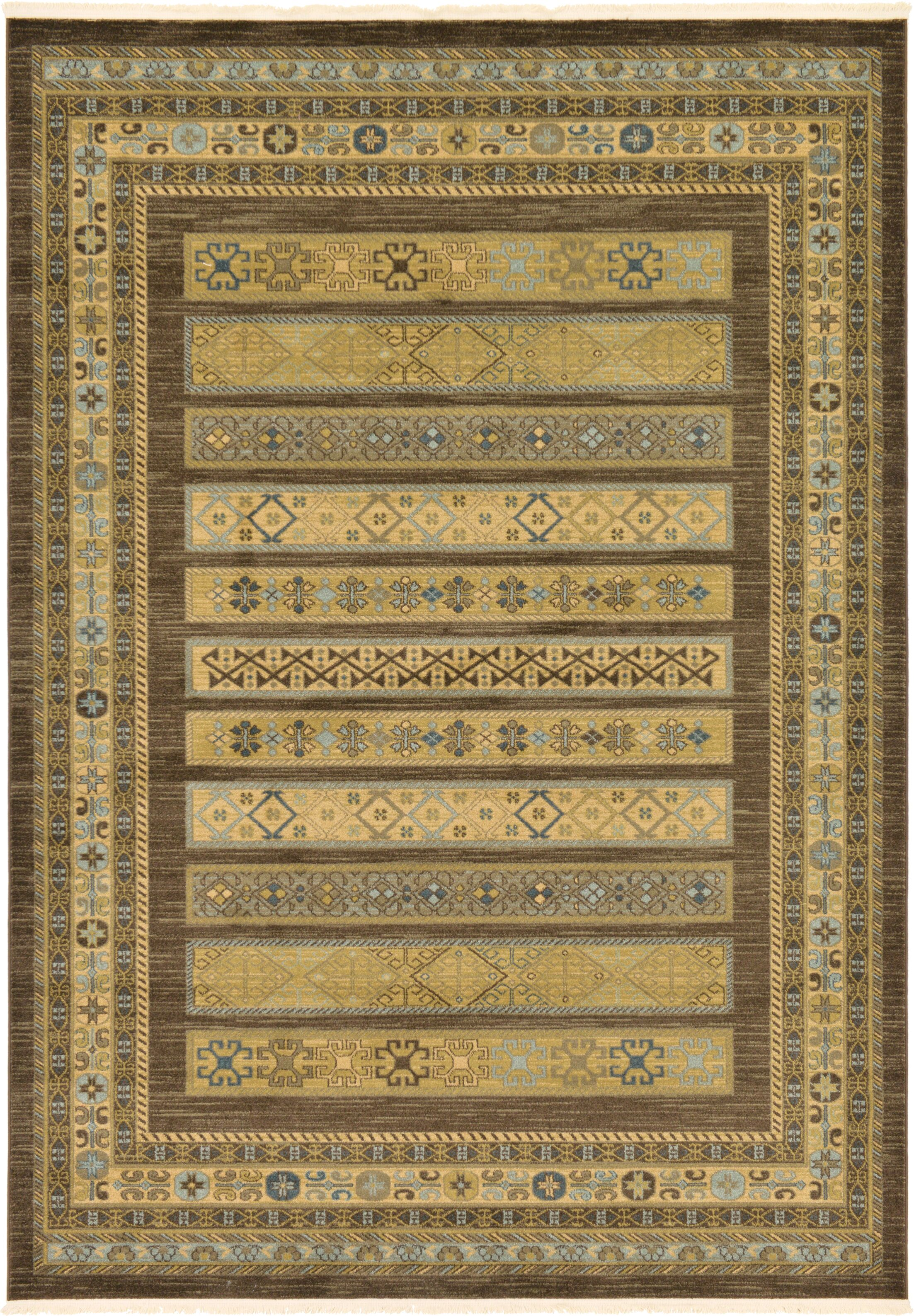 Foret Noire Brown Area Rug Rug Size: Rectangle 7' x 10'