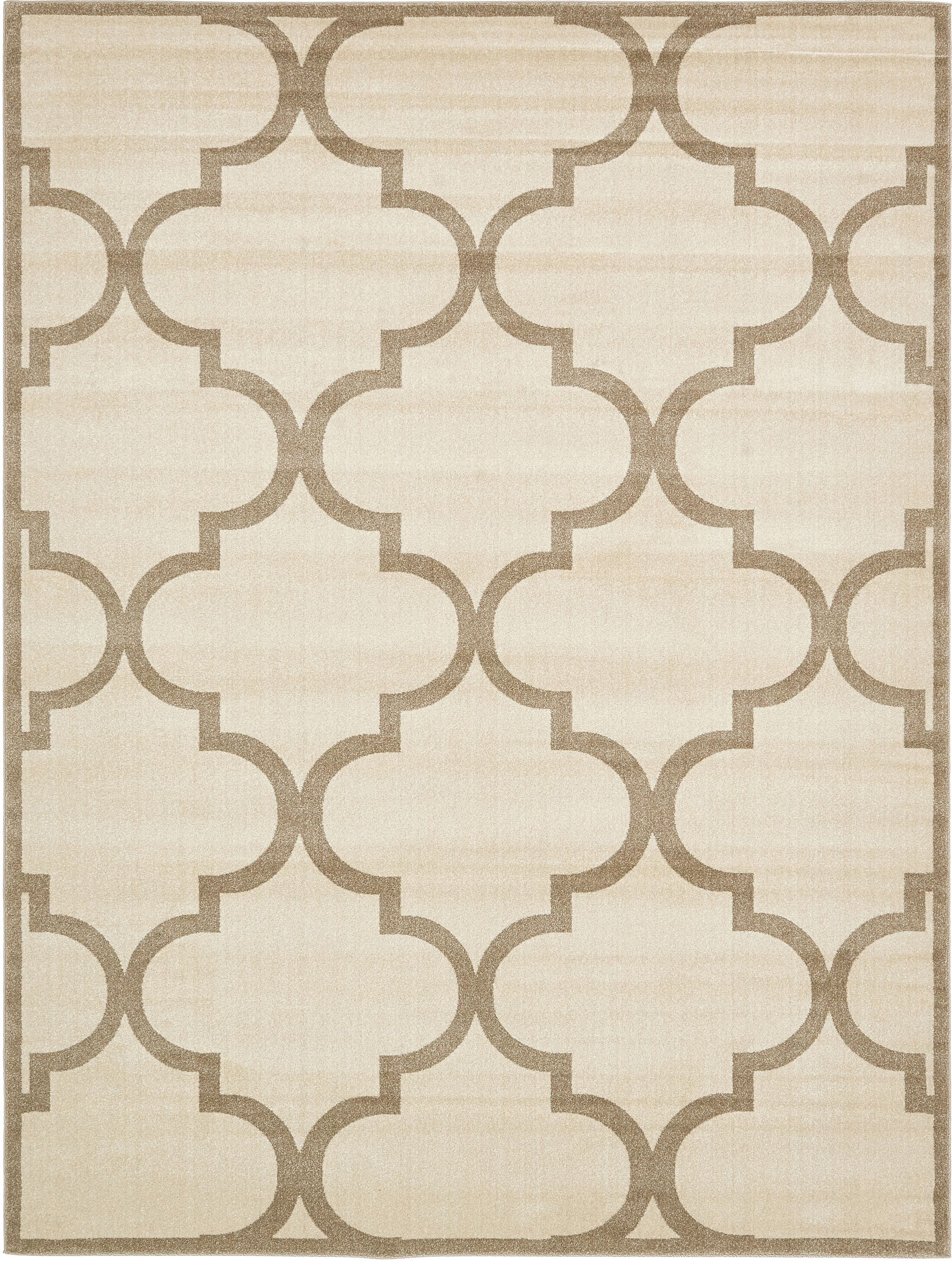 Moore Beige Area Rug Rug Size: Rectangle 9' x 12'