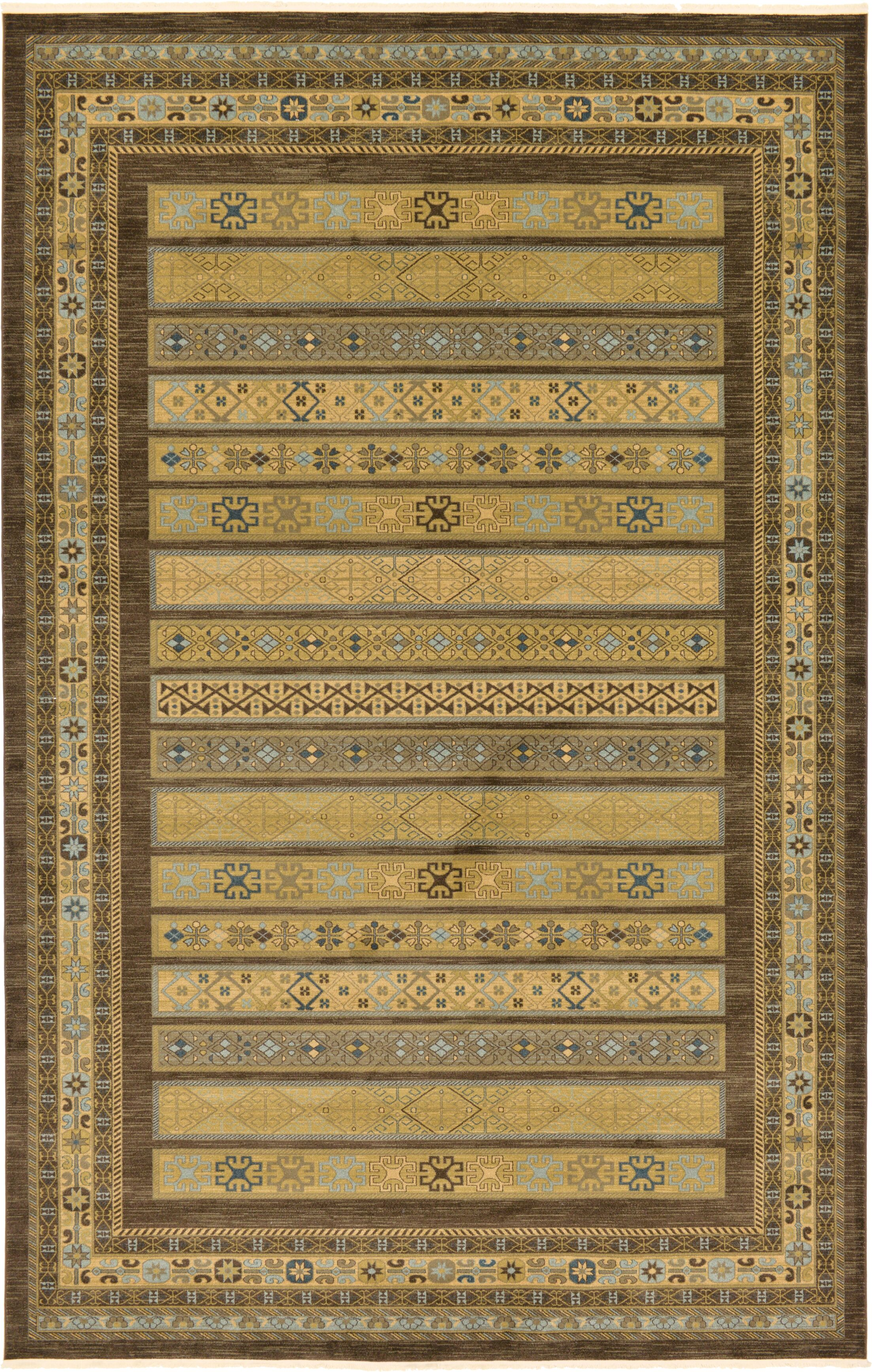 Foret Noire Brown Area Rug Rug Size: Rectangle 10'6