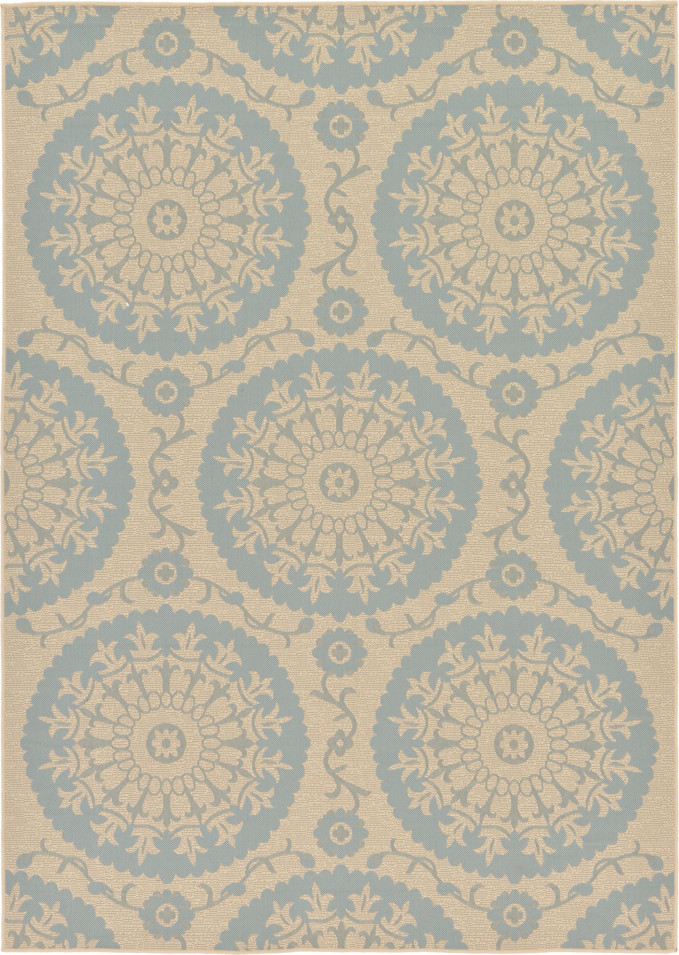 Keough Beige Outdoor Area Rug Rug Size: Rectangle 7' x 10'