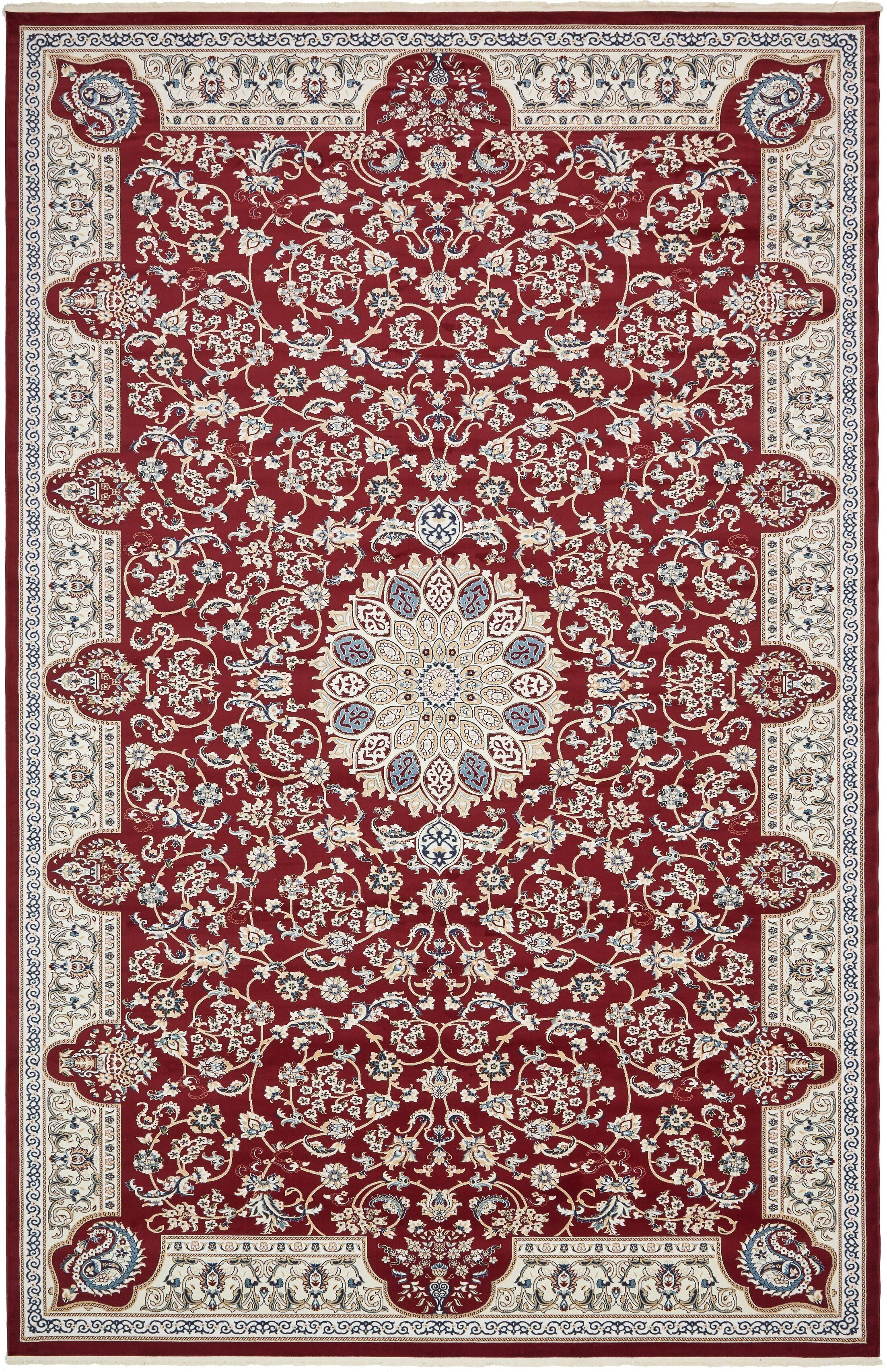 Jackson Burgundy Area Rug Rug Size: Rectangle 13' x 19'8