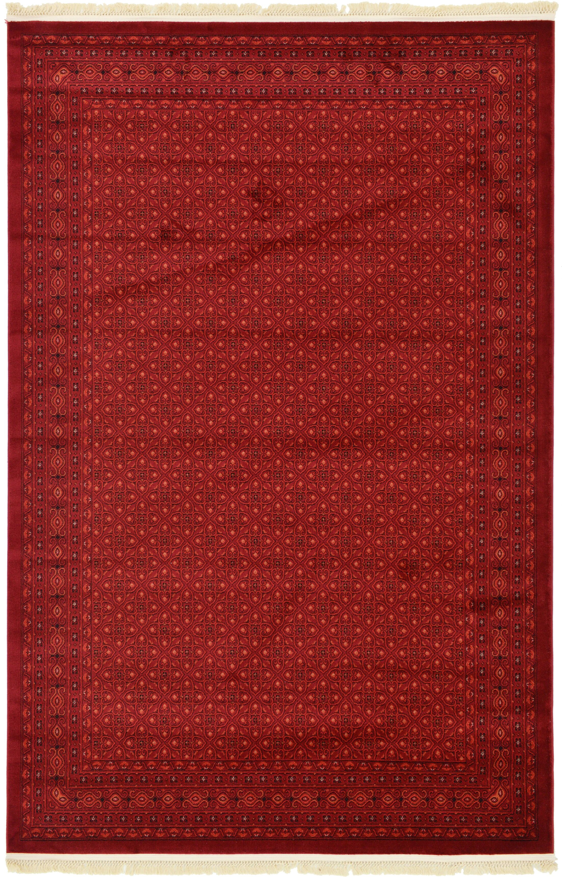 Kowloon Red Area Rug Rug Size: Rectangle 6' x 9'