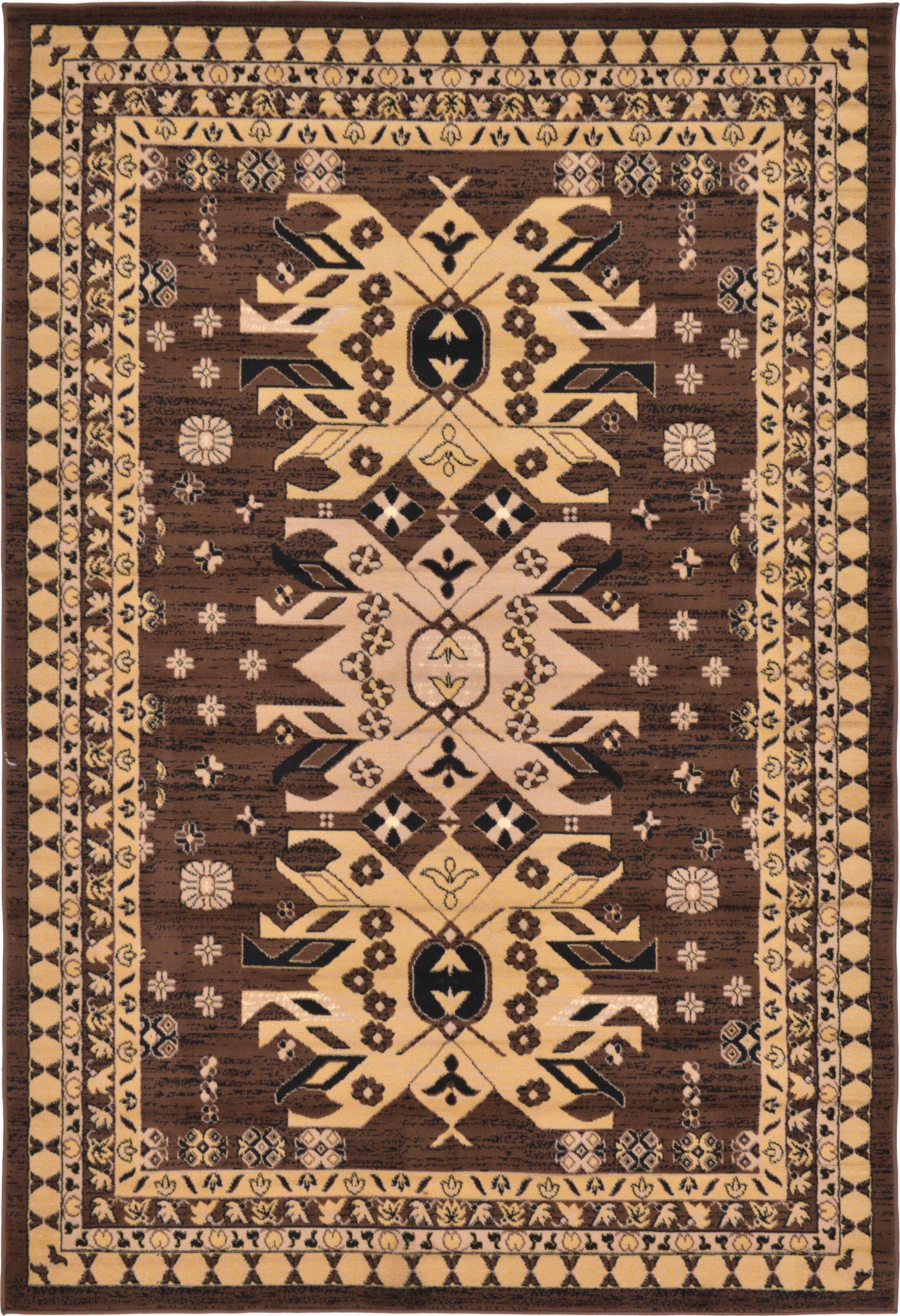 Valley Brown Area Rug Rug Size: Rectangle 6' x 9'