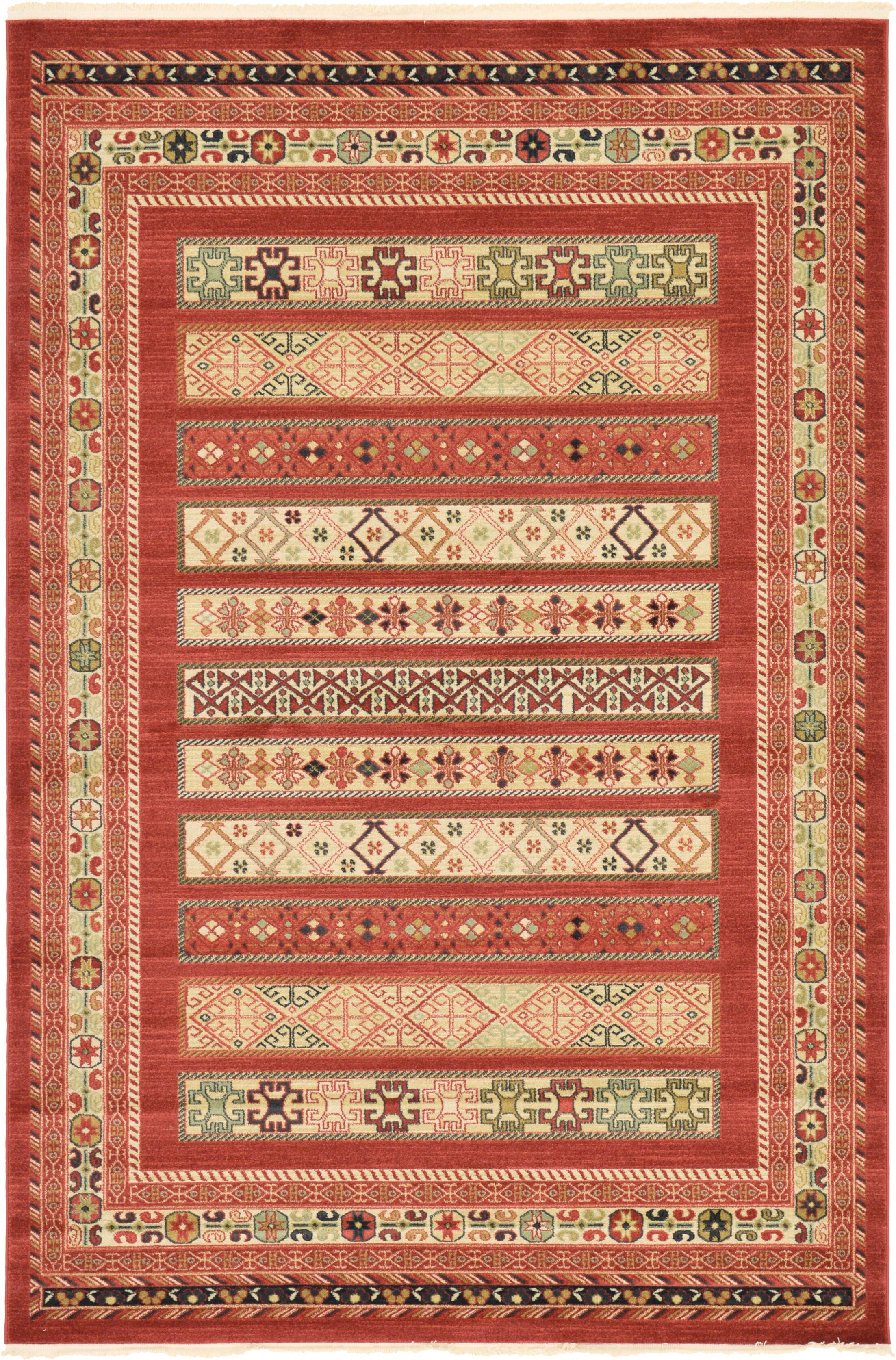 Foret Noire Rust Red Area Rug Rug Size: Rectangle 6' x 9'
