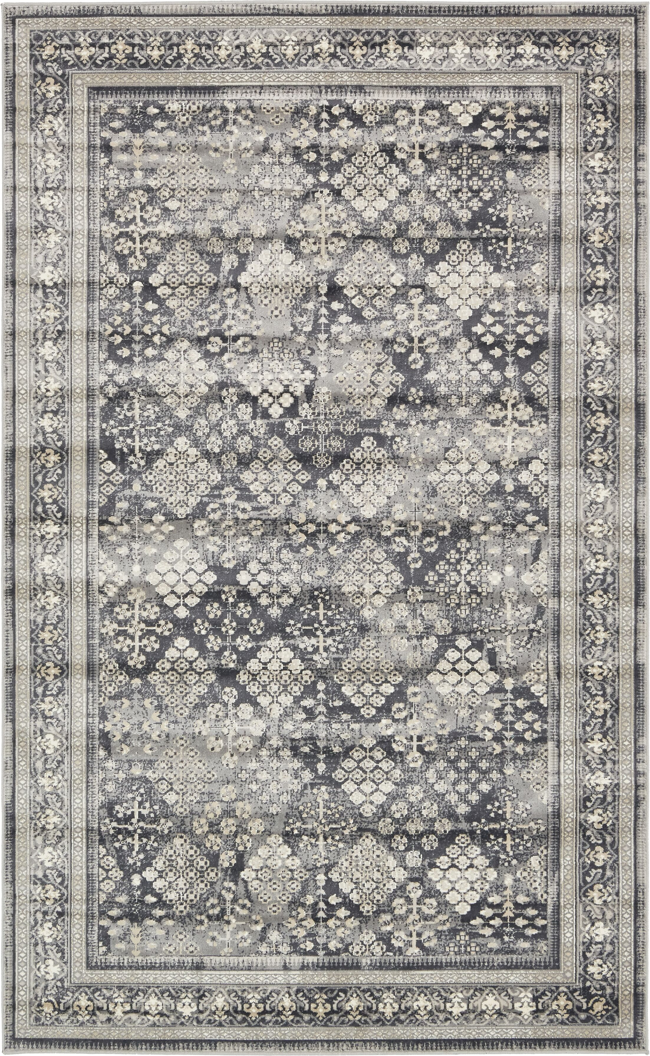Jayleen Dark Gray Area Rug Rug Size: Rectangle 5' x 8'