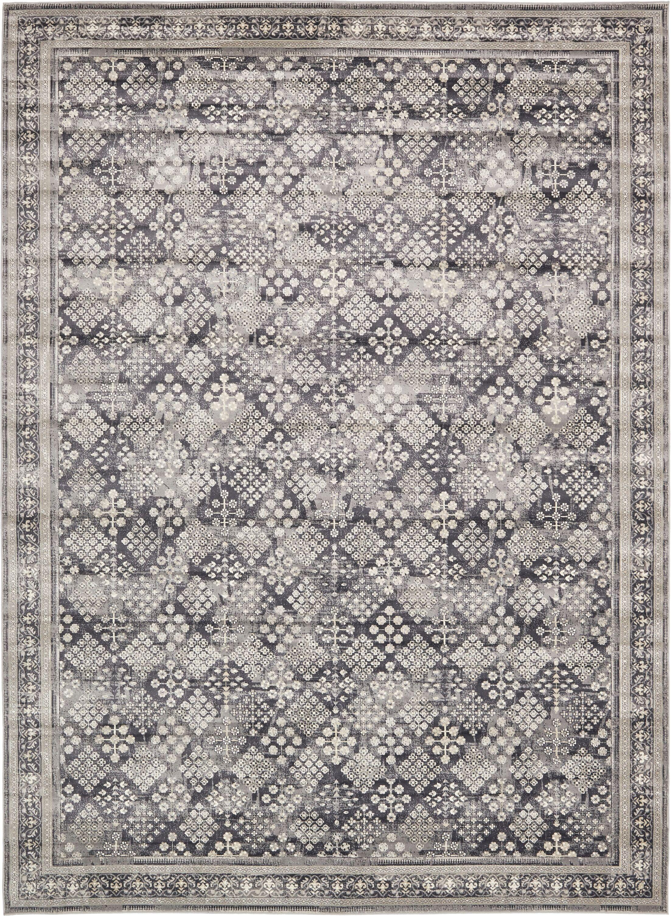 Jayleen Dark Gray Area Rug Rug Size: Rectangle 10'2