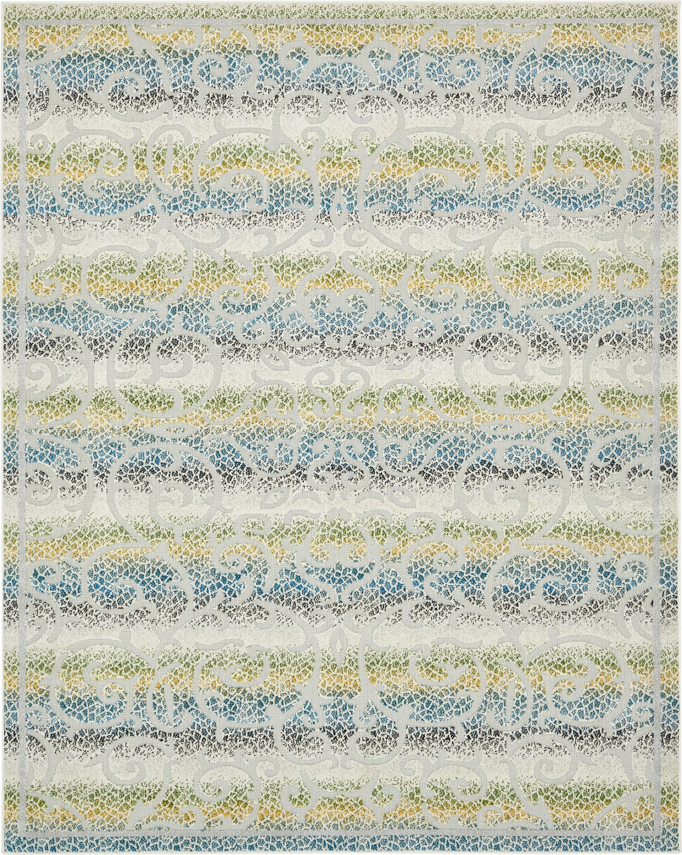 Akin Cream Indoor/Outdoor Area Rug Rug Size: Rectangle 8' x 10'