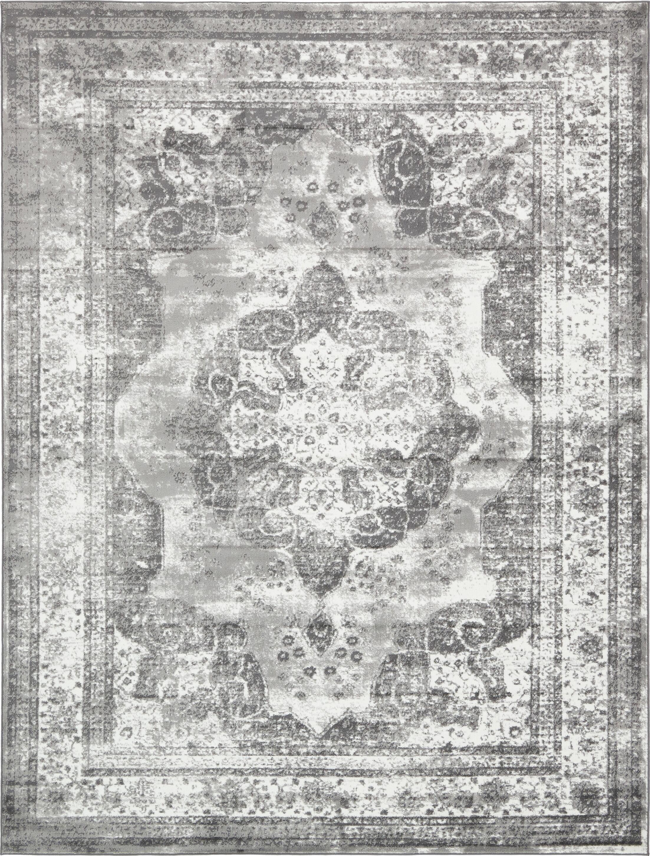 Brandt  Machine Woven Indoor Gray Area Rug Rug Size: Rectangle 8' x 11'
