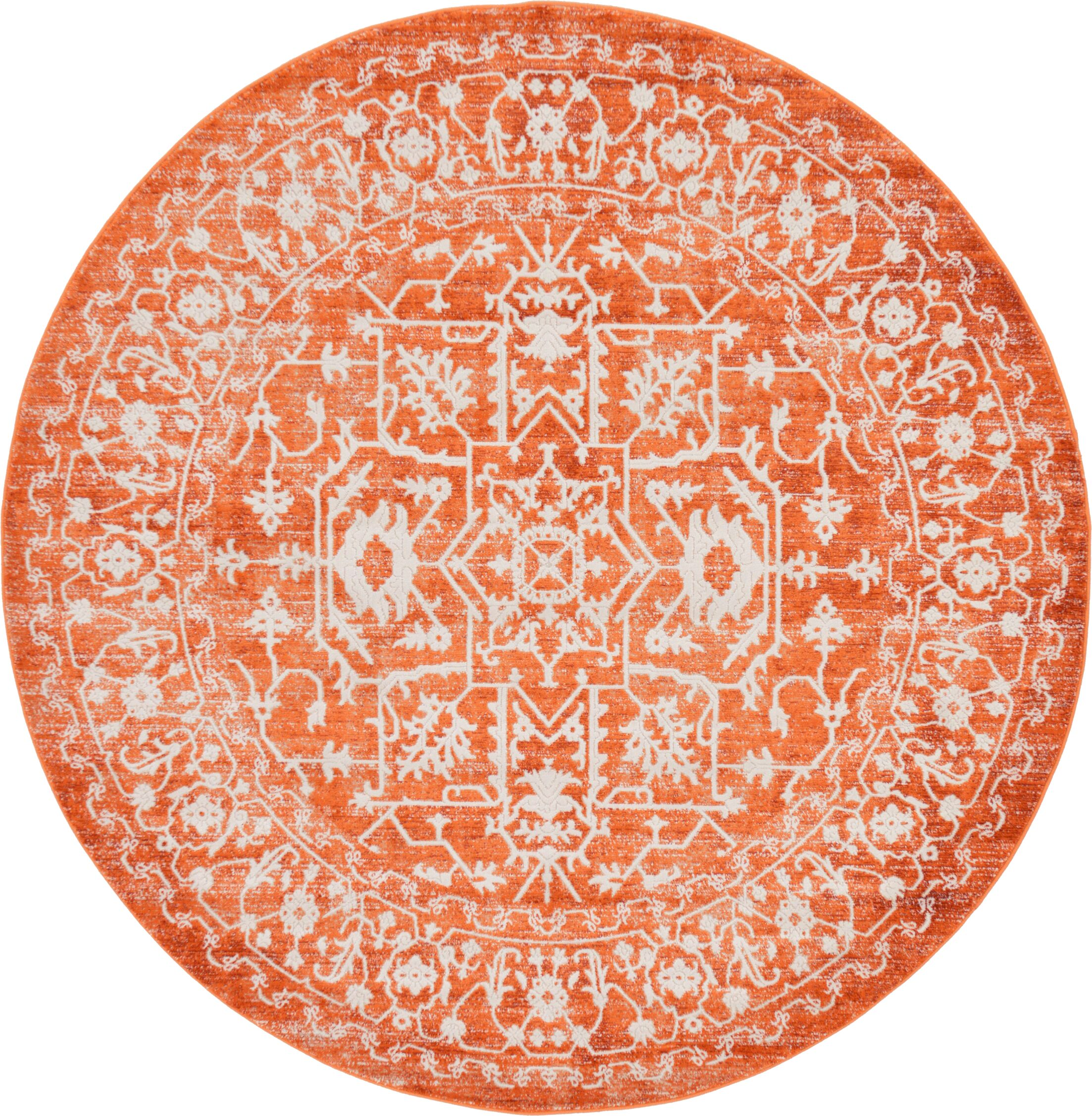 Sherrill Terracotta Area Rug Rug Size: Round 6'
