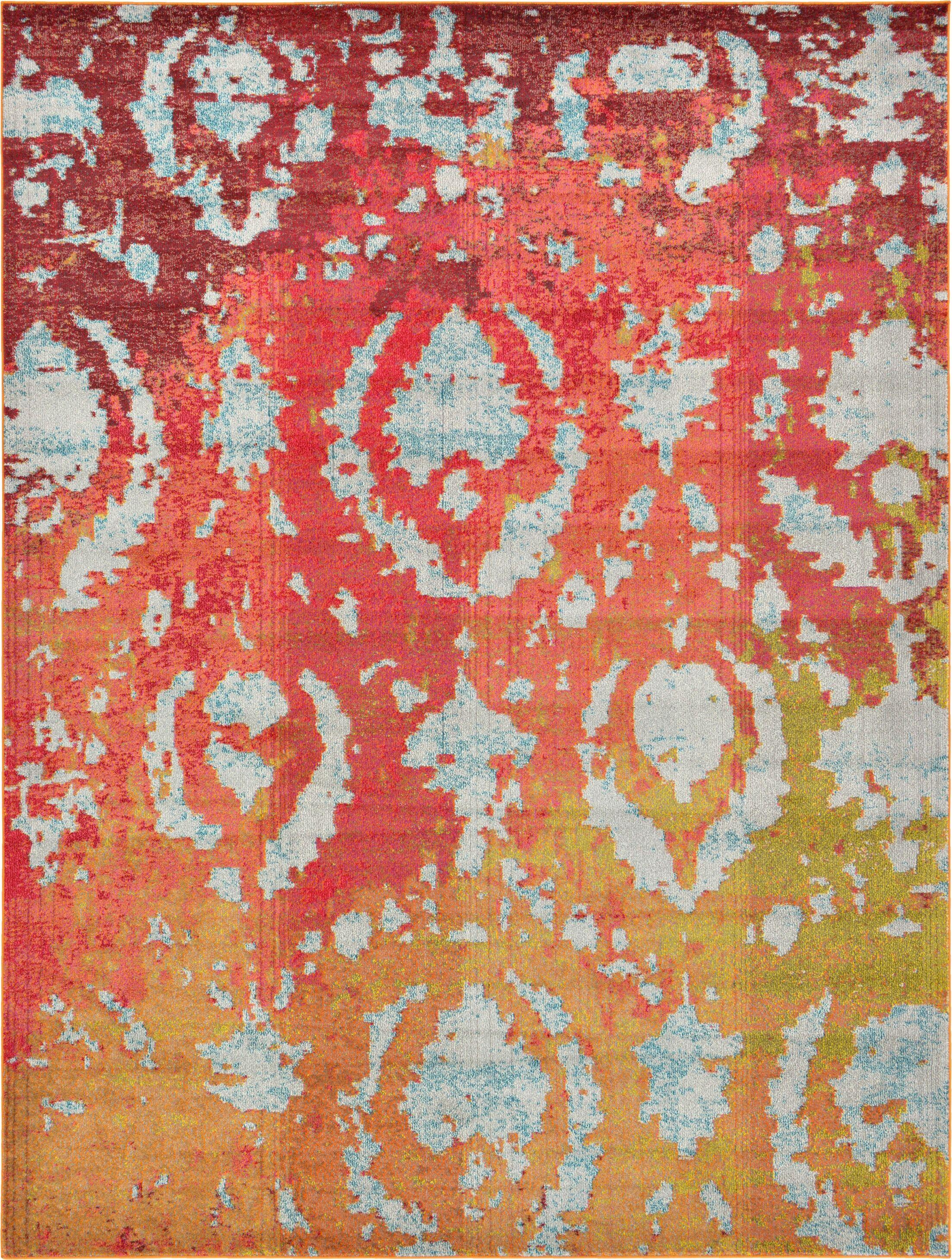 Aquarius Rust Red Area Rug Rug Size: Rectangle 9' x 12'