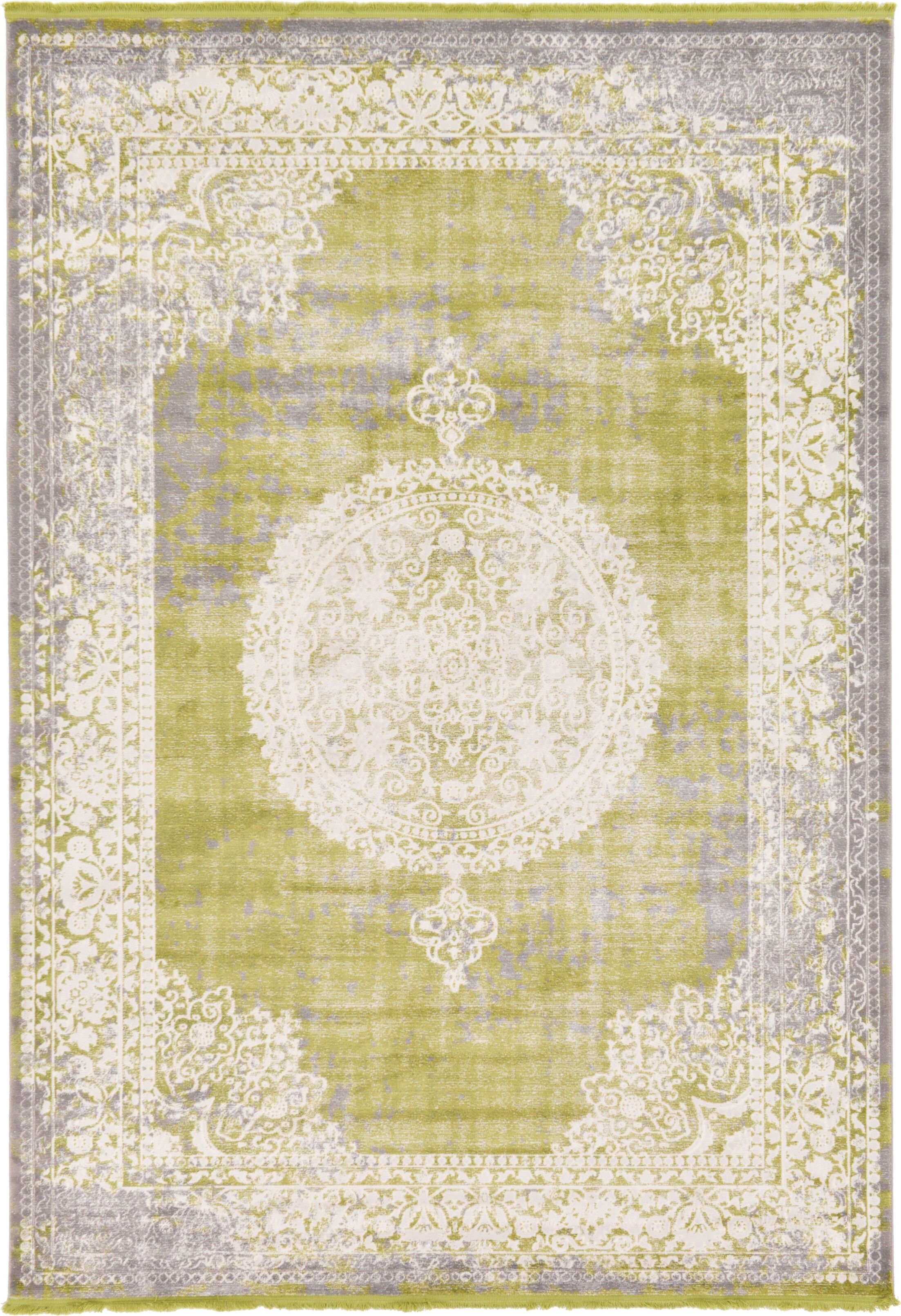 Omri Light Green Area Rug Rug Size: Rectangle 7' x 10'