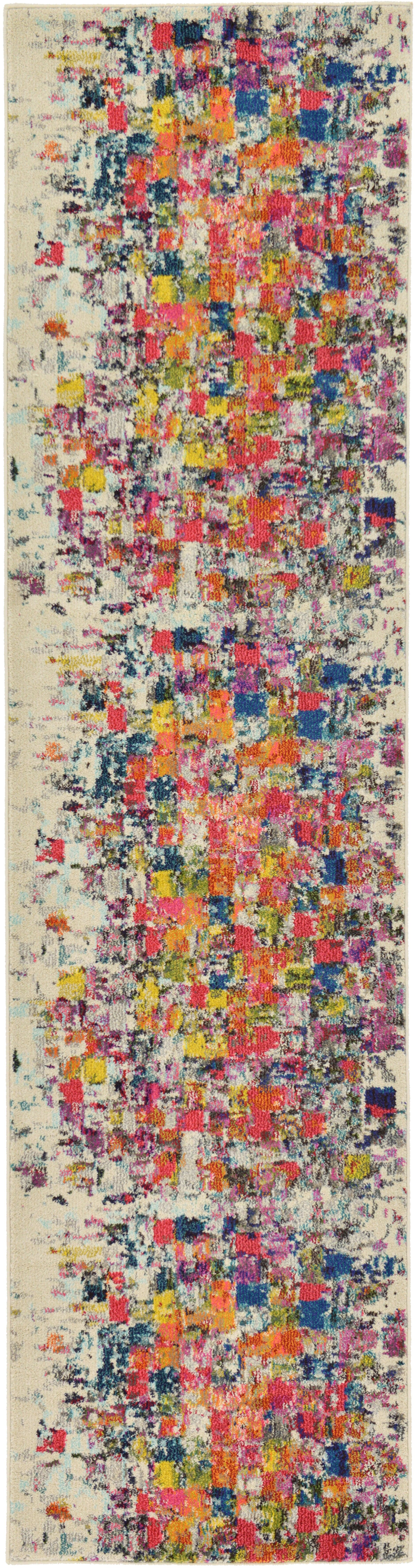 Oldsmar Red/Yellow Area Rug Rug Size: Runner 2'7