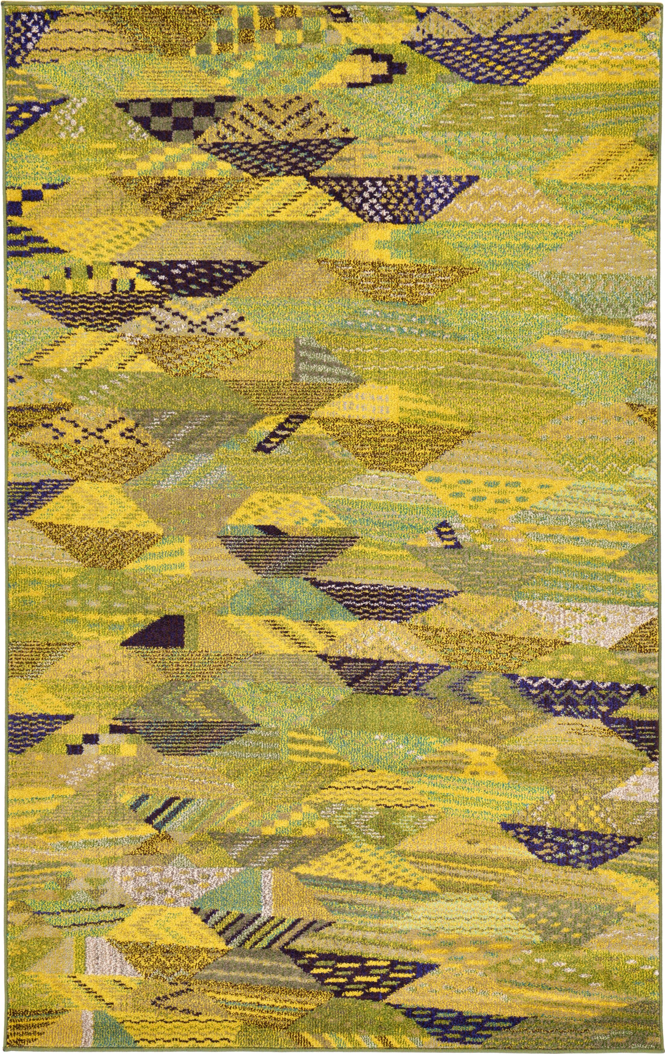 Roshan Green Area Rug Rug Size: Rectangle 5' x 8'