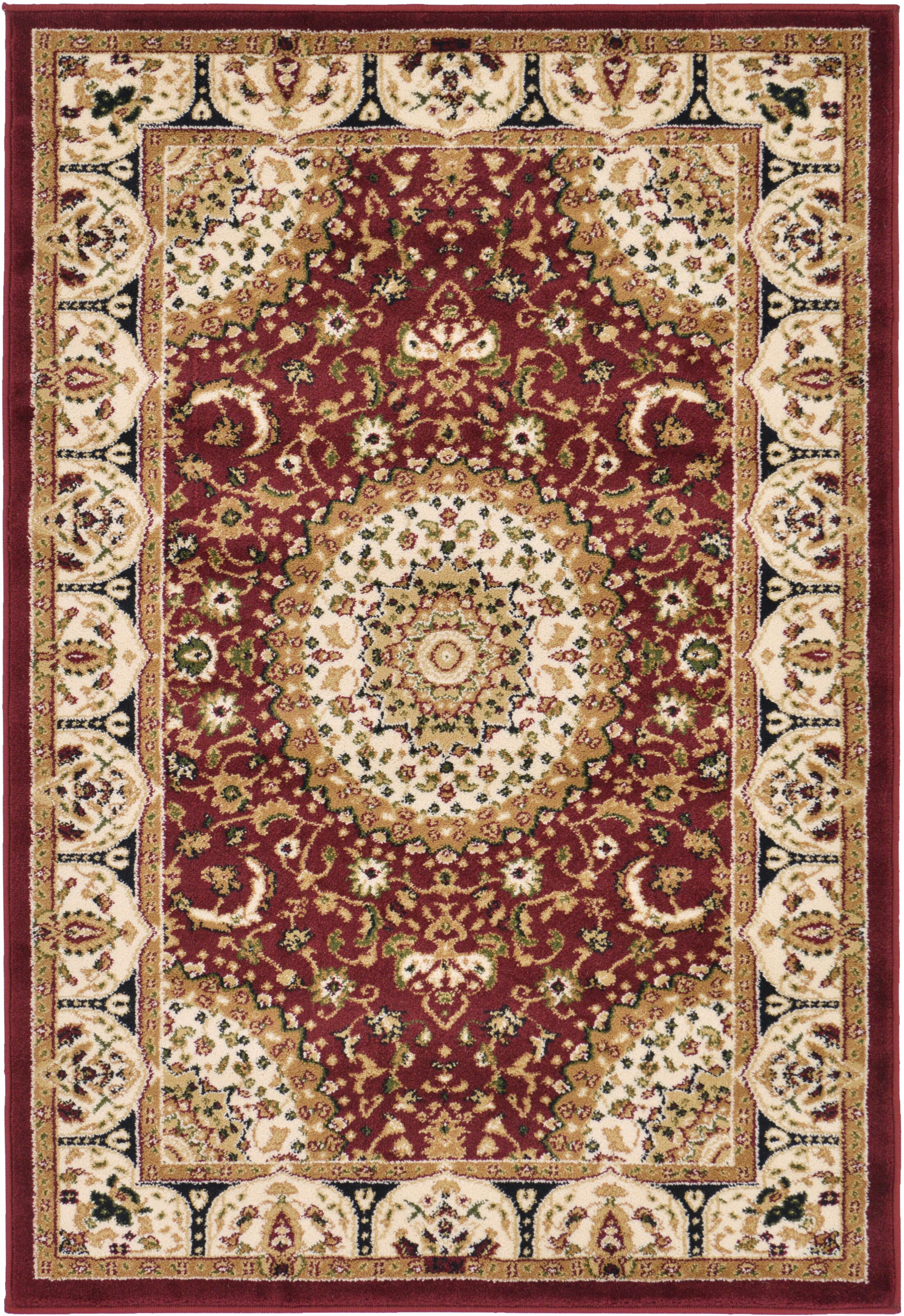 Astral Red Area Rug Rug Size: Round 9'10